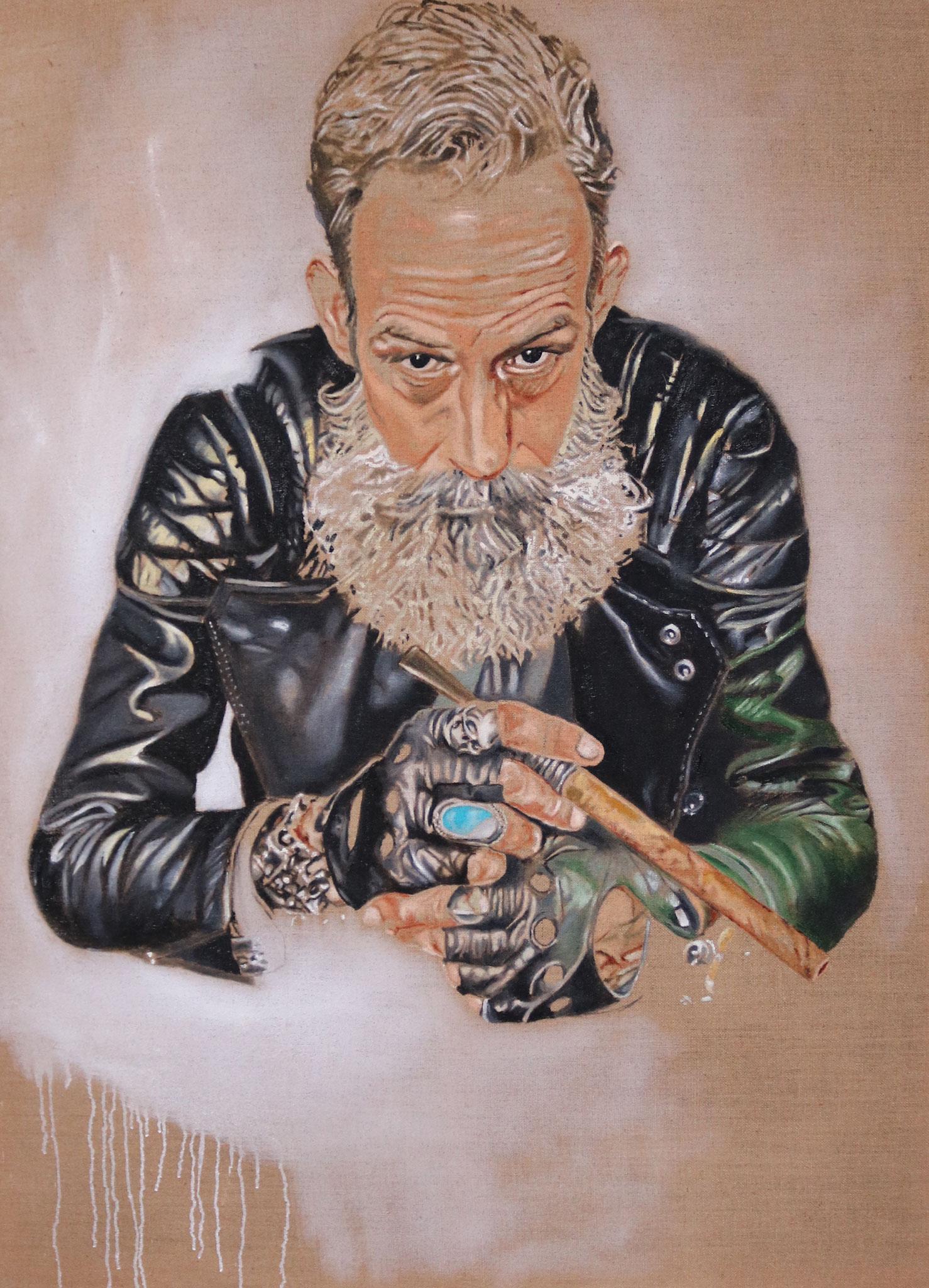 """""""Robert"""" 120 x 160cm - Öl auf Leinwand 2017"""