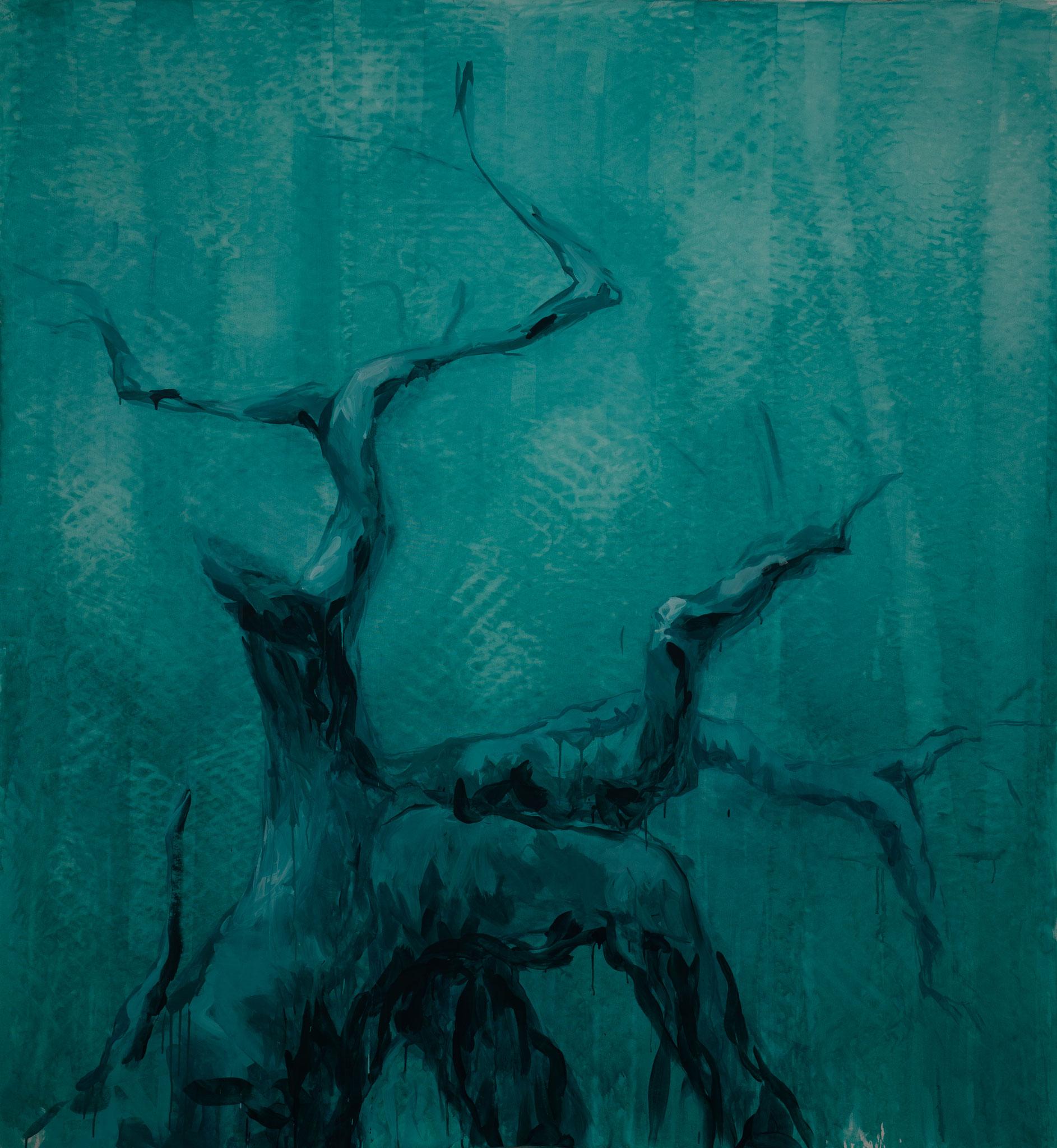 """""""Green Forest Dream"""" 220 x 200 cm - Acryl auf Leinwand"""