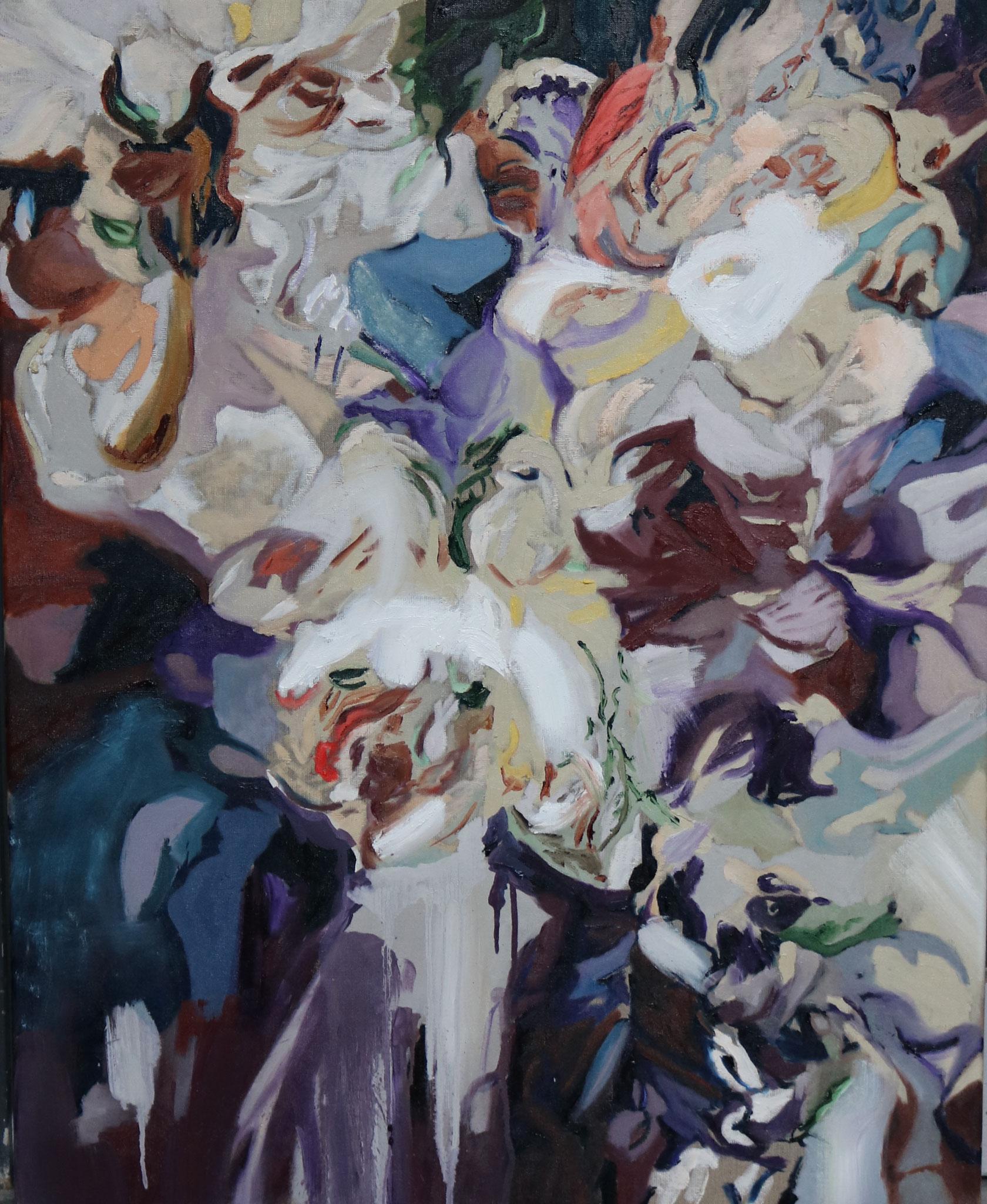 """Blumen II"" 80 x 100cm - Öl auf Leinwand"