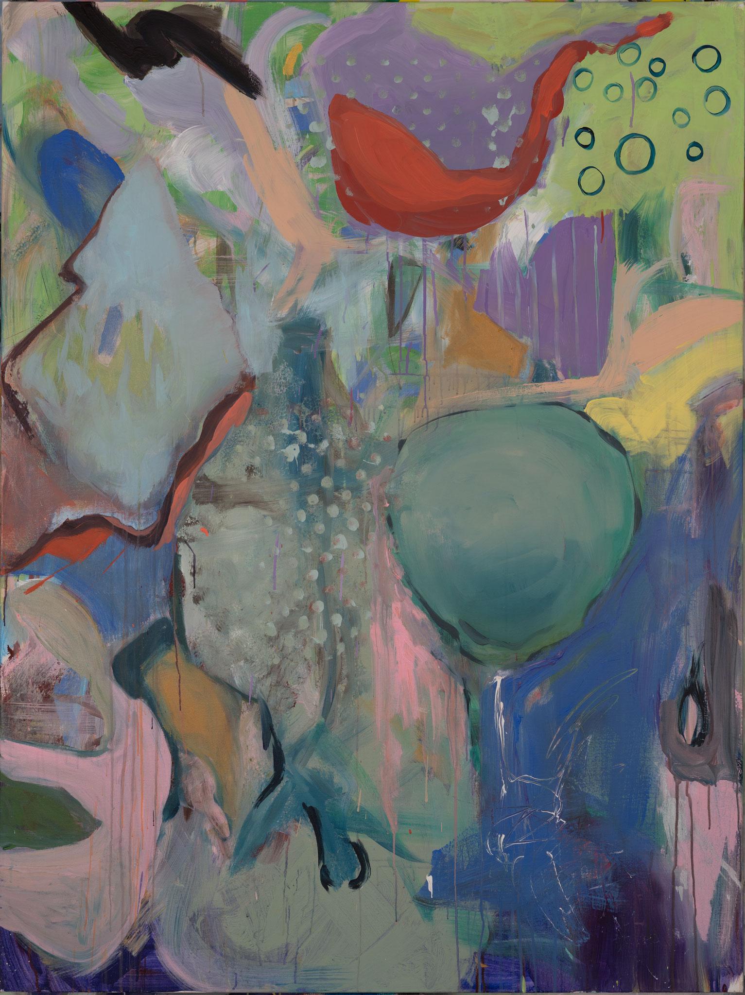 """Red Bird"" 160 x 120 cm - Acryl auf Leinwand"