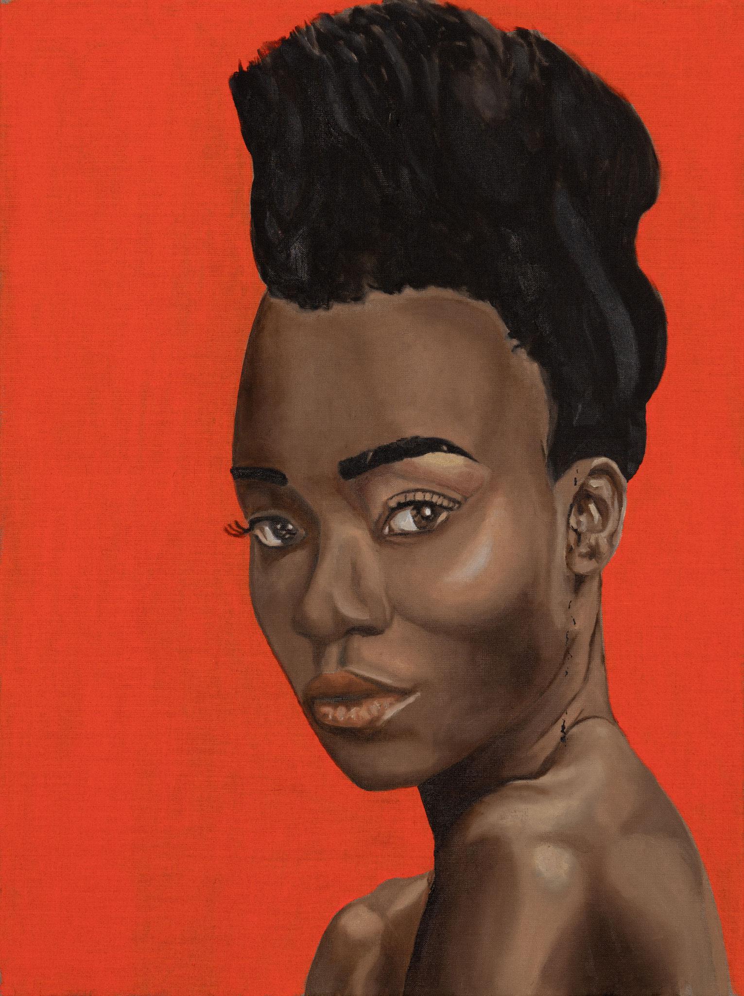 """Exotic Lady"" 80 x 60cm - Öl auf Leinwand"