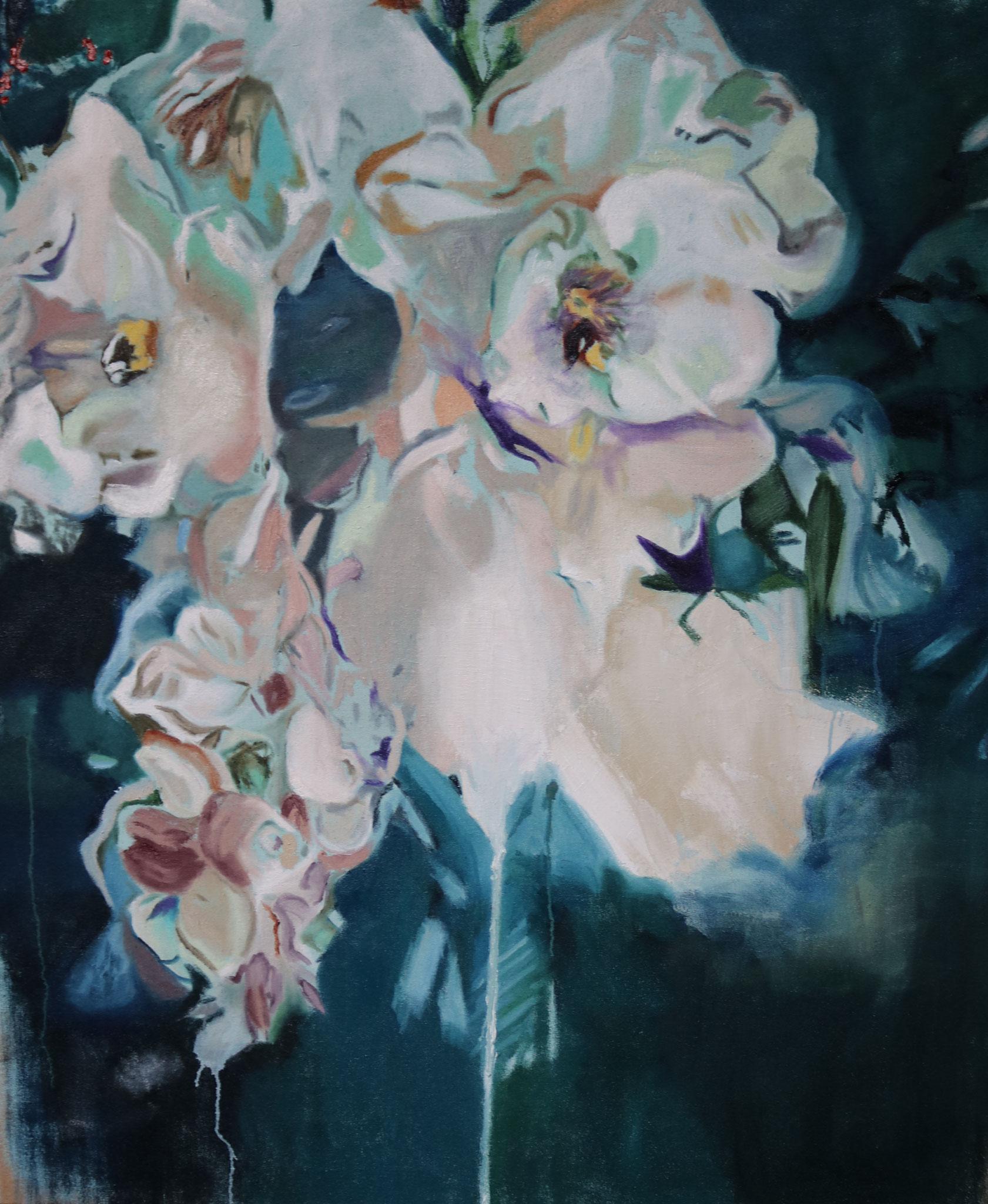 """Blumen I"" 145 x 180 cm - Öl auf Leinwand 2017"