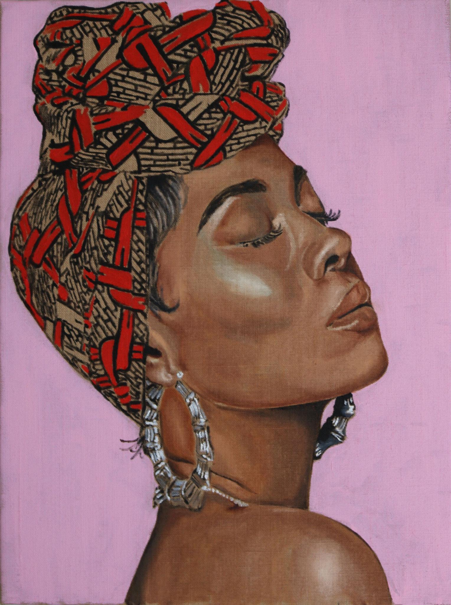 """Naomi"" 60 x 80cm - Öl auf Leinwand"