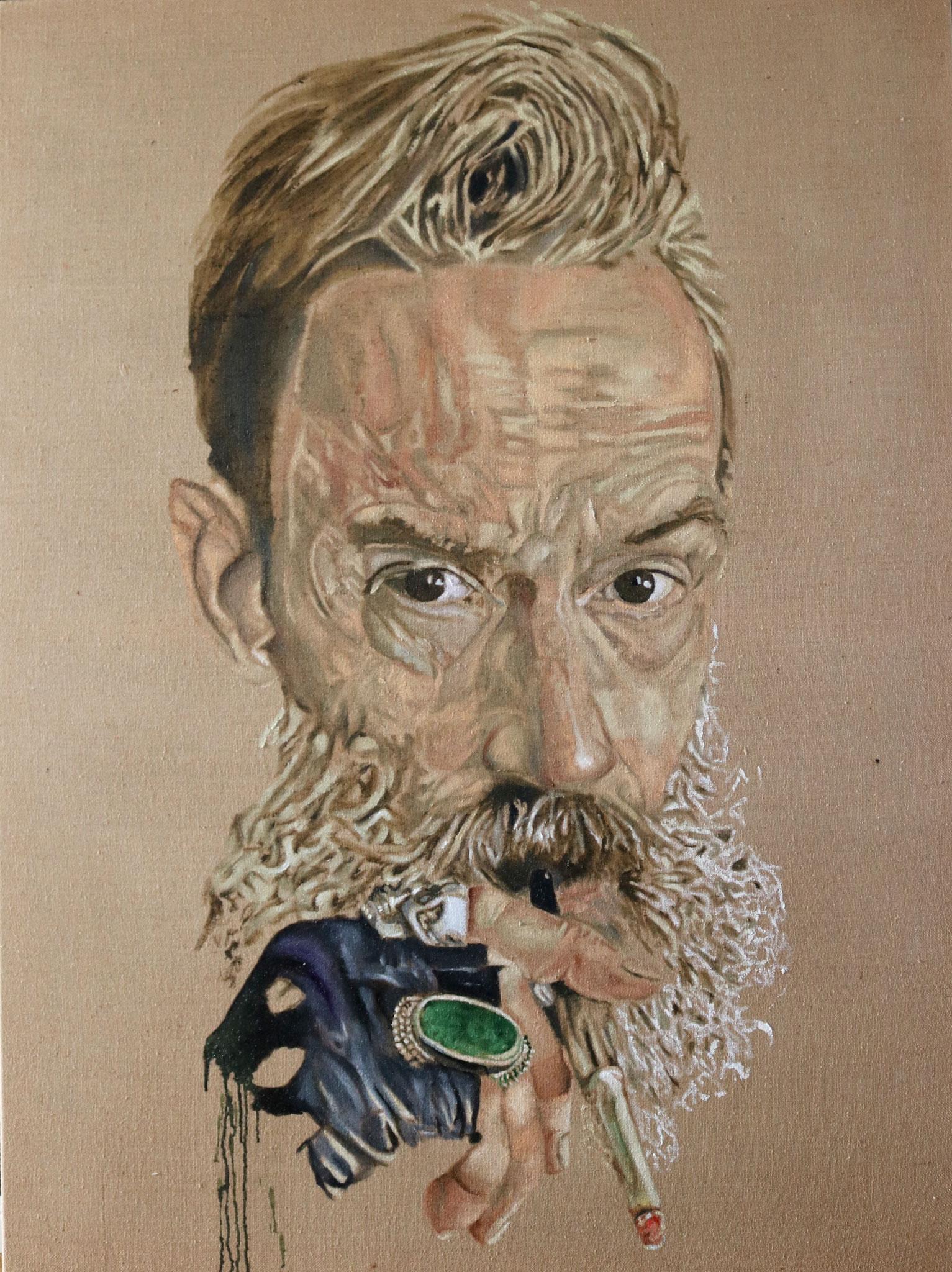 """Robert II"" 120 x 160 cm - Öl auf Leinwand 2017"