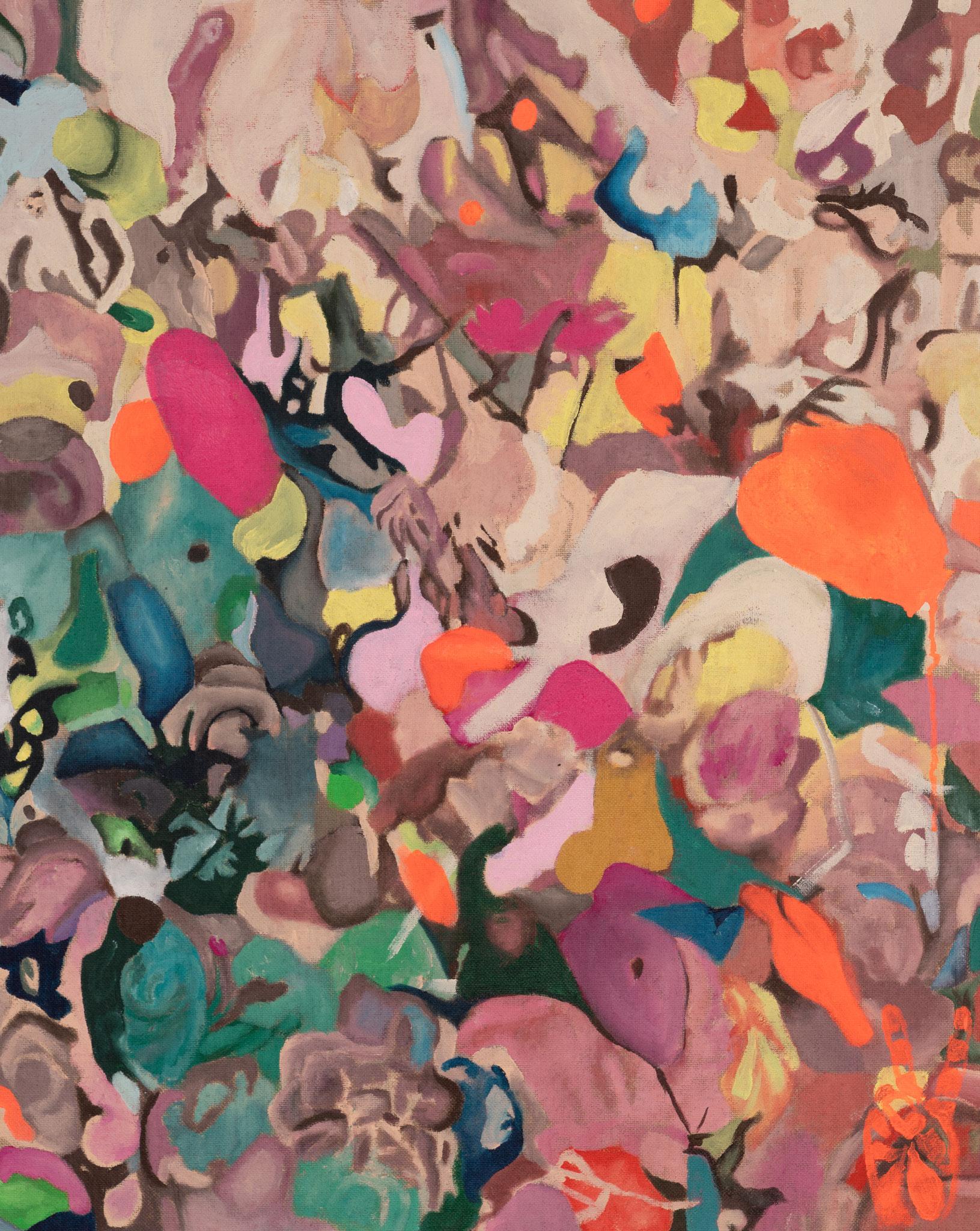 """Pink Dots"" 80 x 100 cm - Acryl auf Leinwand"