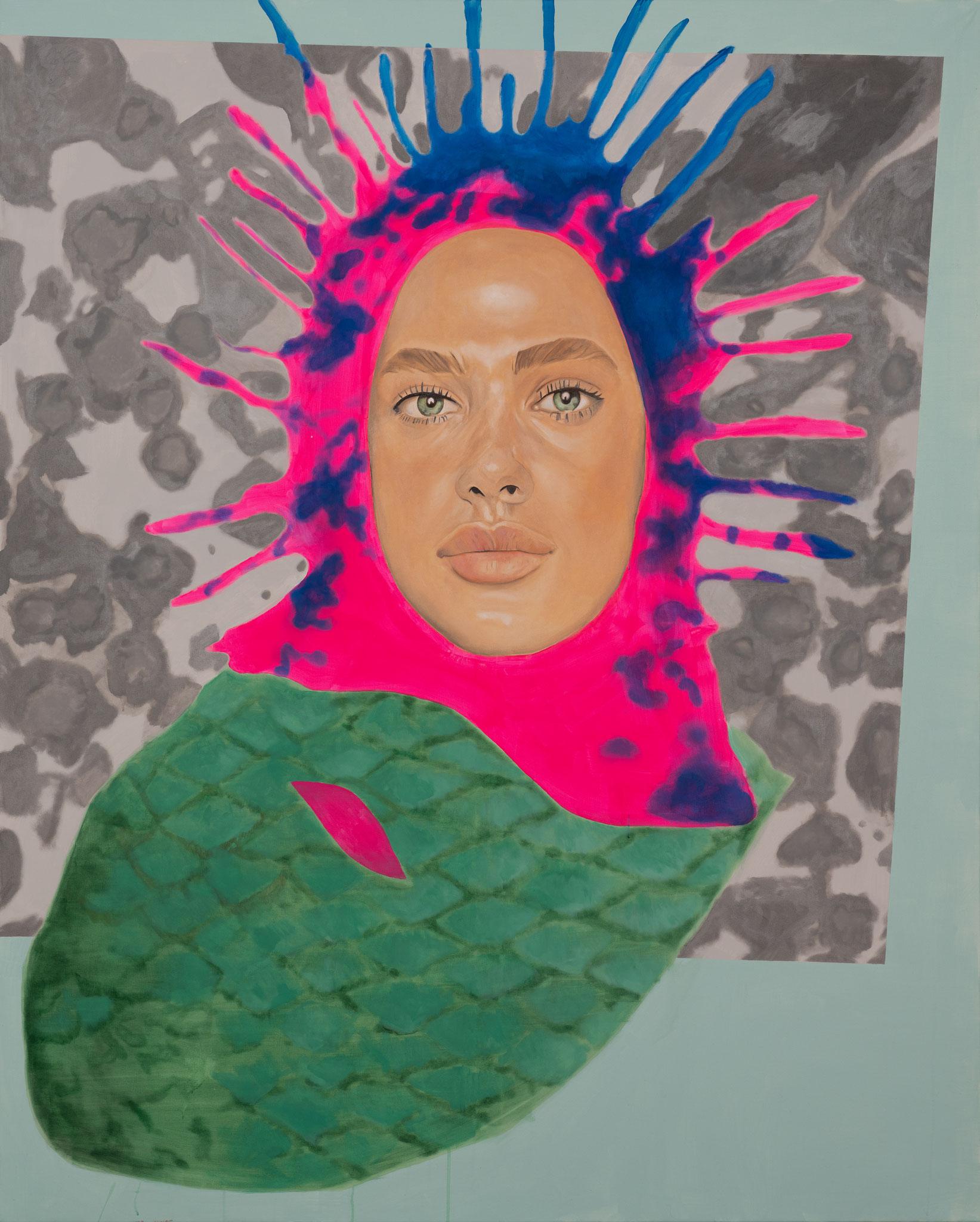 """""""Medusafisch"""" 180 x 145 cm - MischtechnikAcryl/Öl auf Leinwand"""