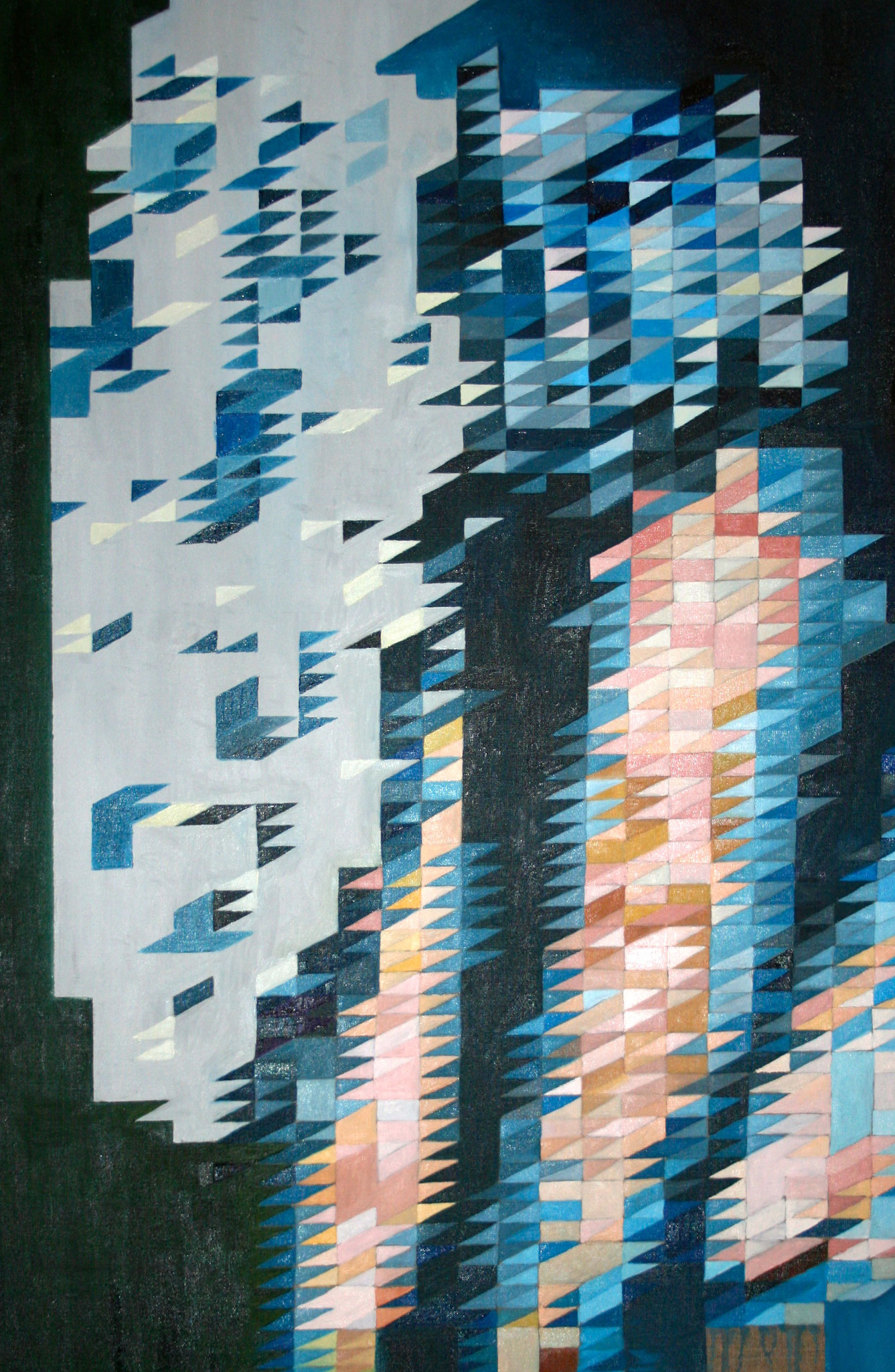 """""""Frau in blau I"""" 80 x 120 cm - Öl auf Leinwand"""