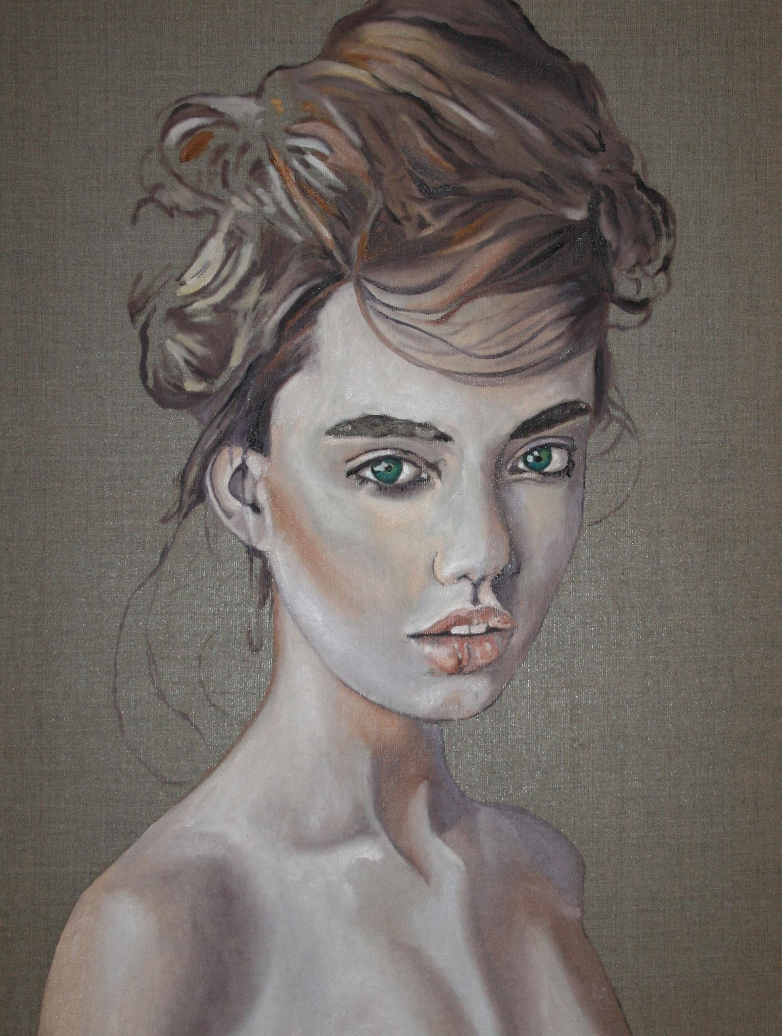 """Manon"" 60 x 80 cm - Öl auf Leinwand 2016"
