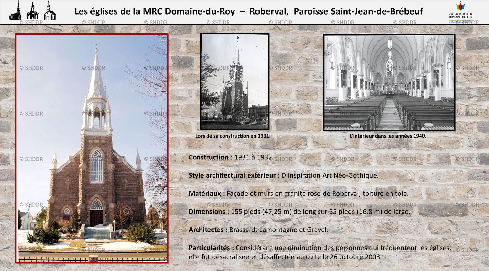 Roberval -  Paroisse Saint-Jean-de-Brébeuf