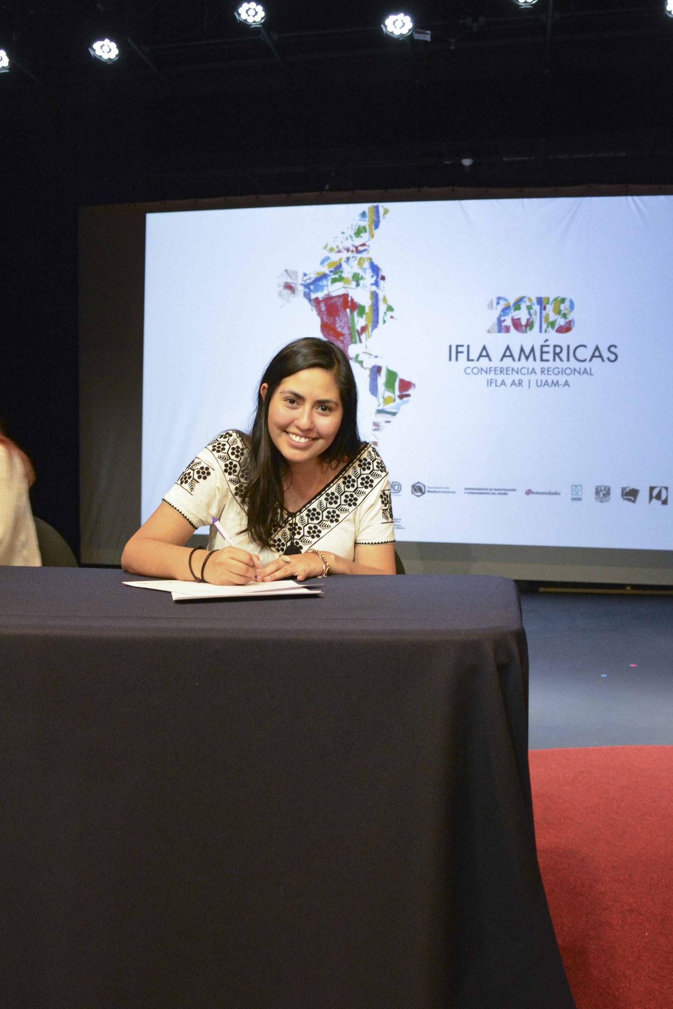 Firma de la Carta del Paisaje de las Américas / Arq. Psj. Diana Hernández