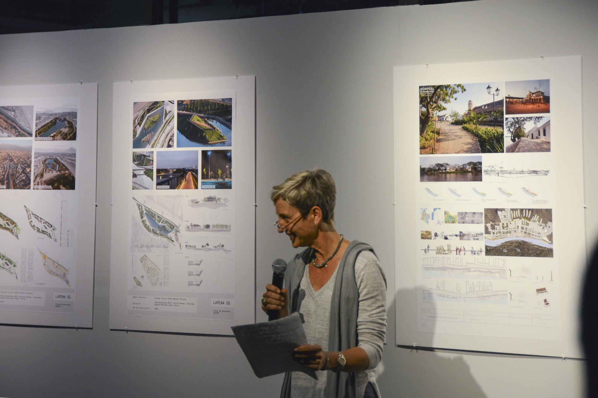 Inauguración de la exposición de la III BLAP / Arq. Psj. Kathrin Grimm