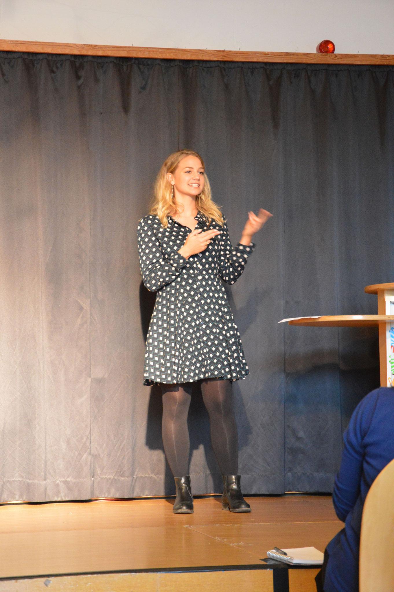 Moderatorin Laura Meinhard hat uns fehlerfrei durch die Veranstaltung geführt