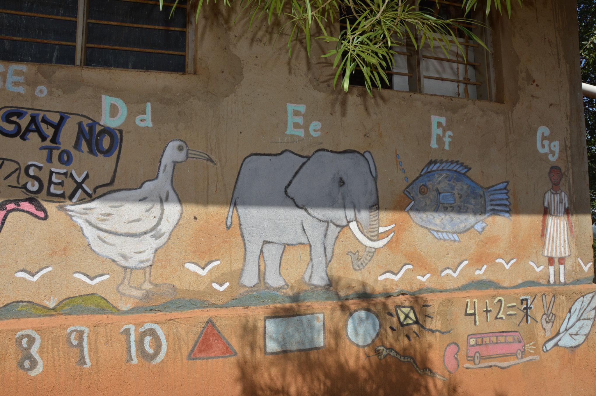 Sag nein zu Sex / D=Duck (Ente); E= Elefant; F=Fish; G=Girl (Mädchen)