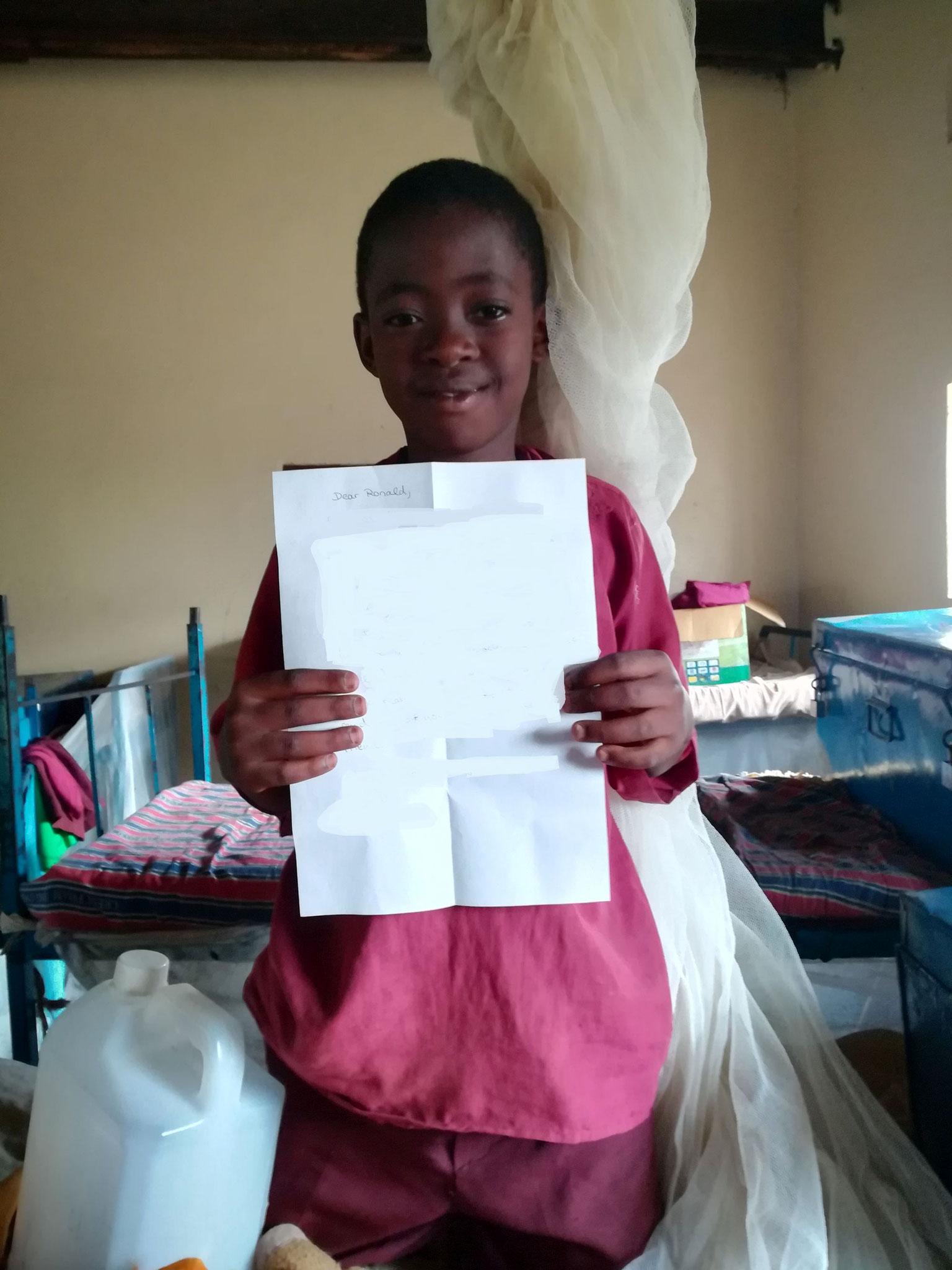 Brief für die Pateneltern