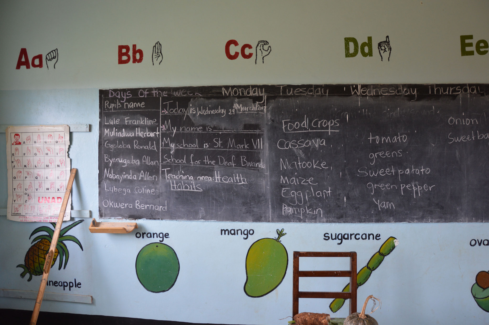 Neu angestrichene Klassenräume P. 0