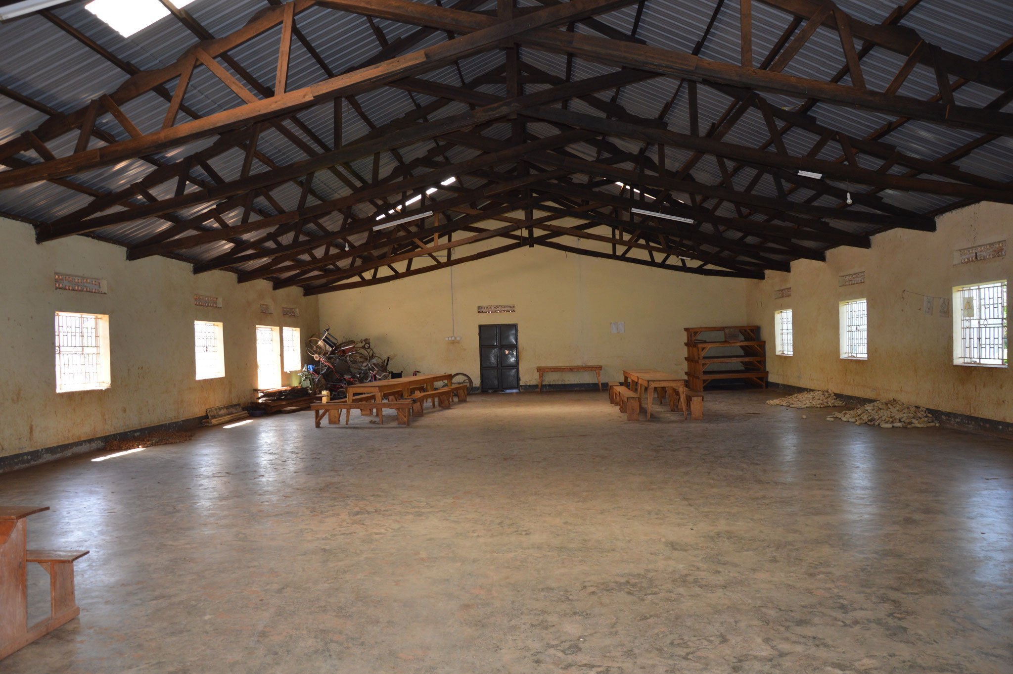 Der Speisesaal in Ntungamo