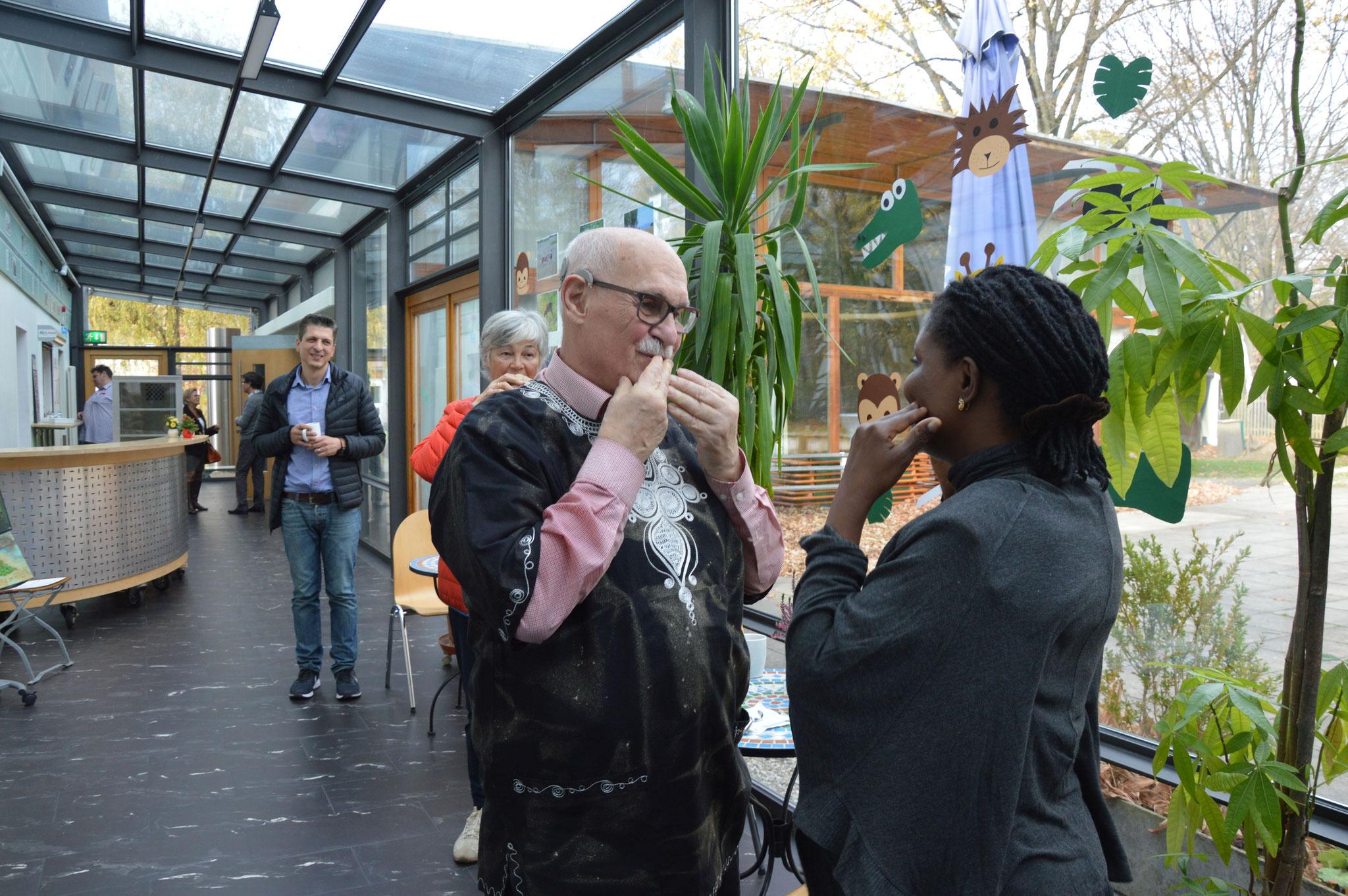 Gerhard Ehrenreichs große Freude über das wiedersehen von Prossy