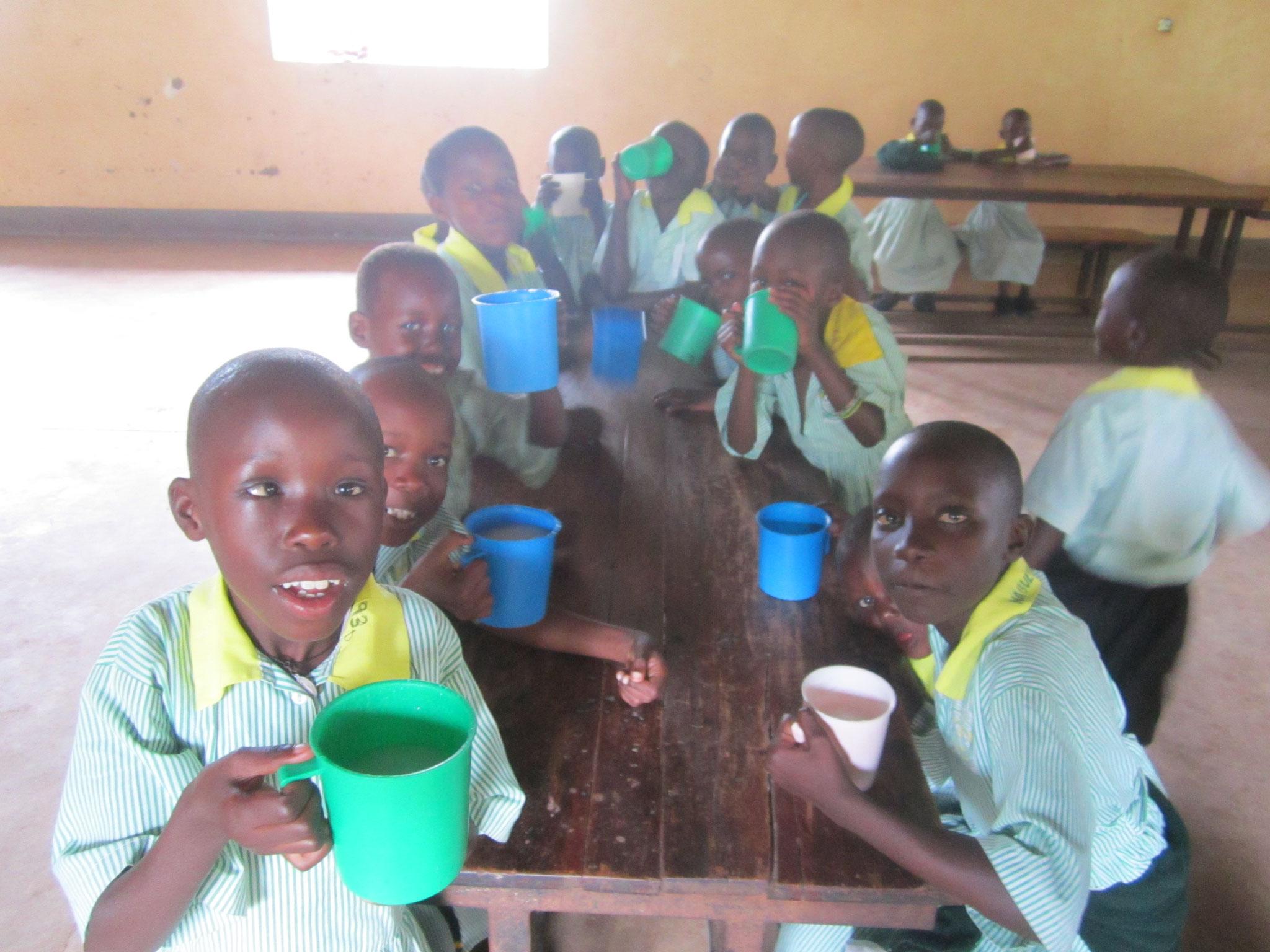 Porregge Pause in Bwanda