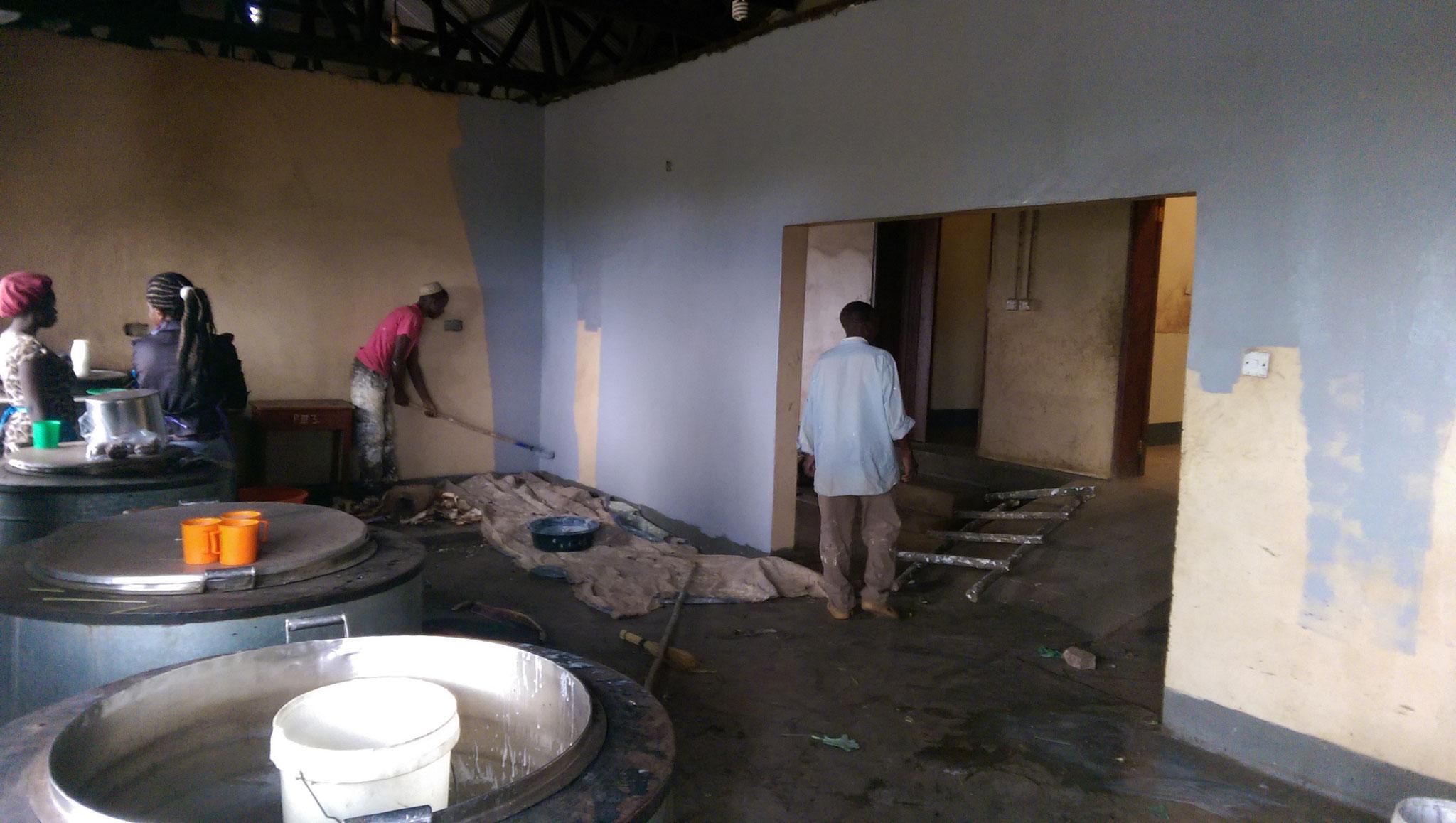 Die Küche wird neu gestrichen