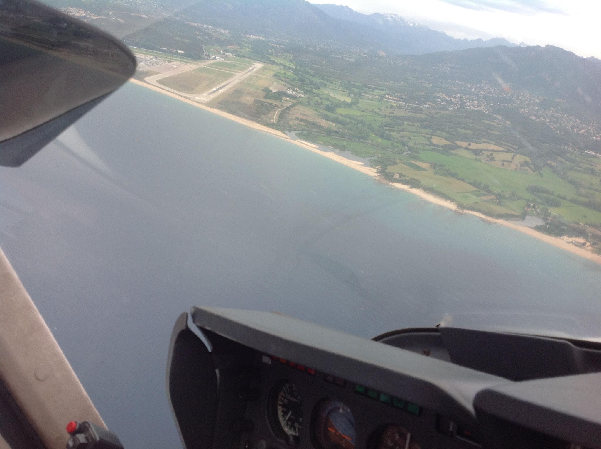 En approche à Ajaccio (LFKJ)