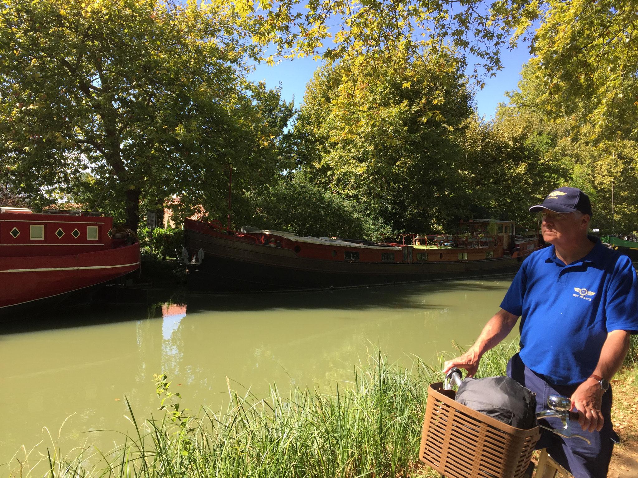 Ballade à vélo le long du canal du midi