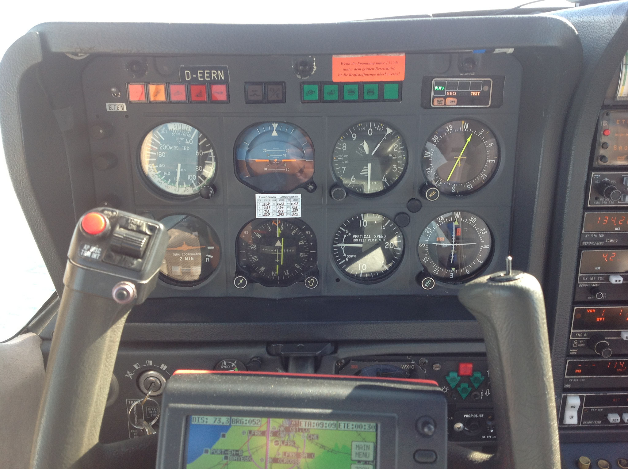Je prend de l'altitude (9500 pieds) avant de rentrer à la maison