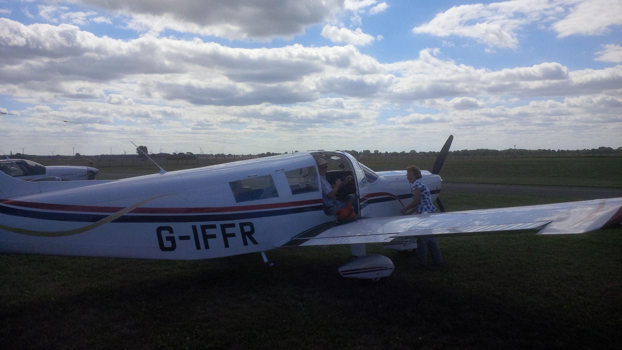 L'avion du futur président de l'IFFR