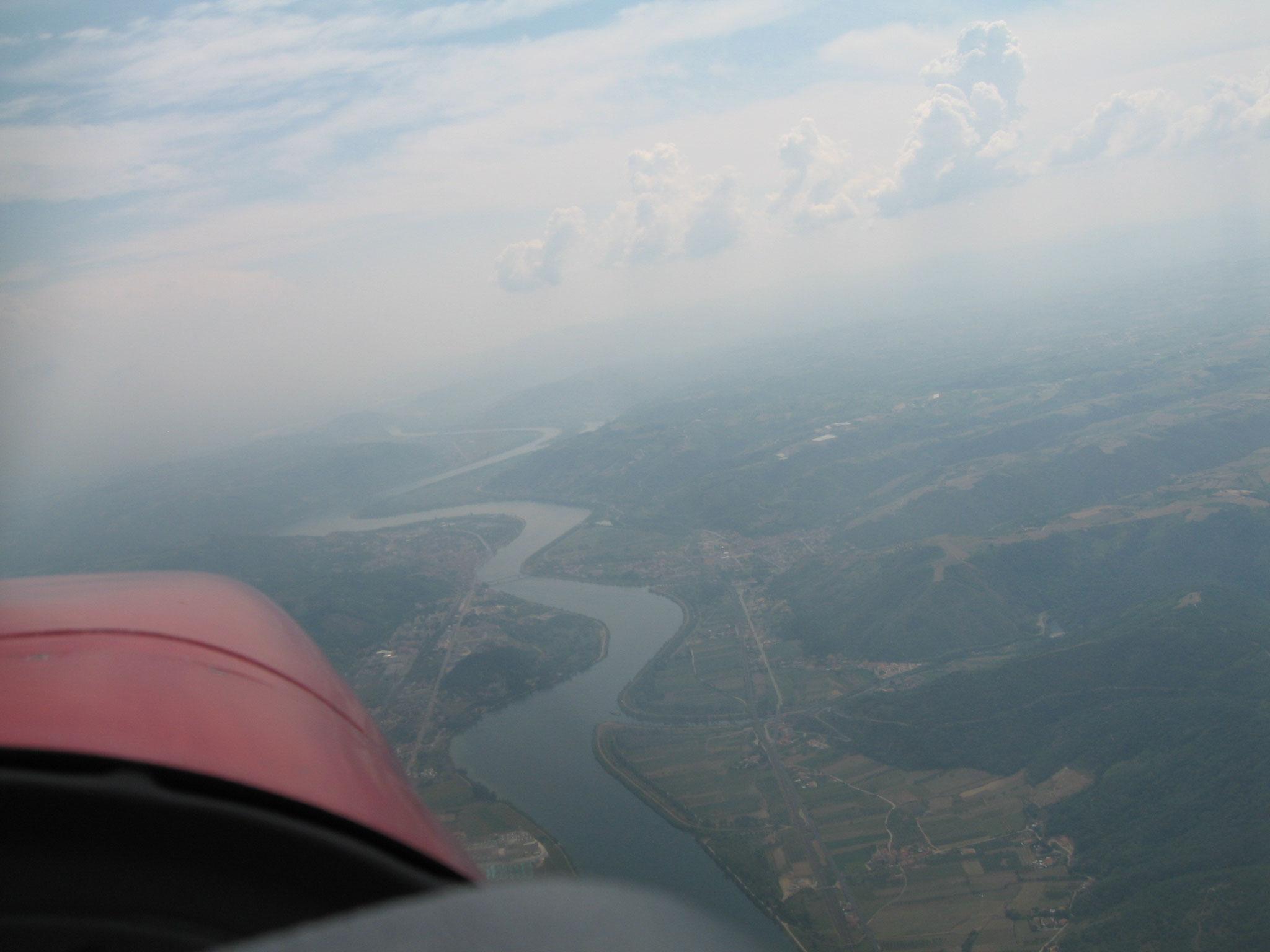 Nous suivons la Saône