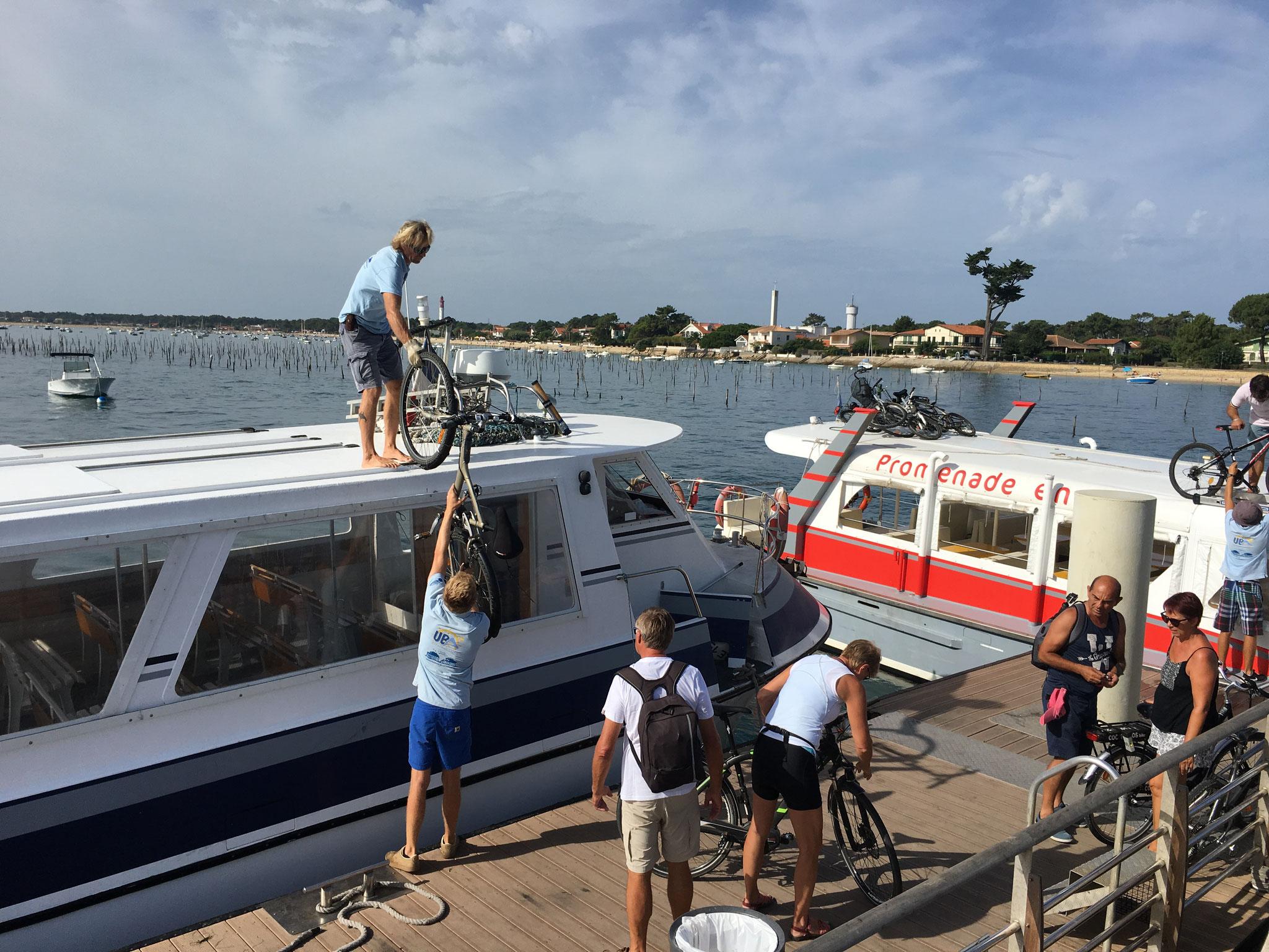Les vélos sur le bateau