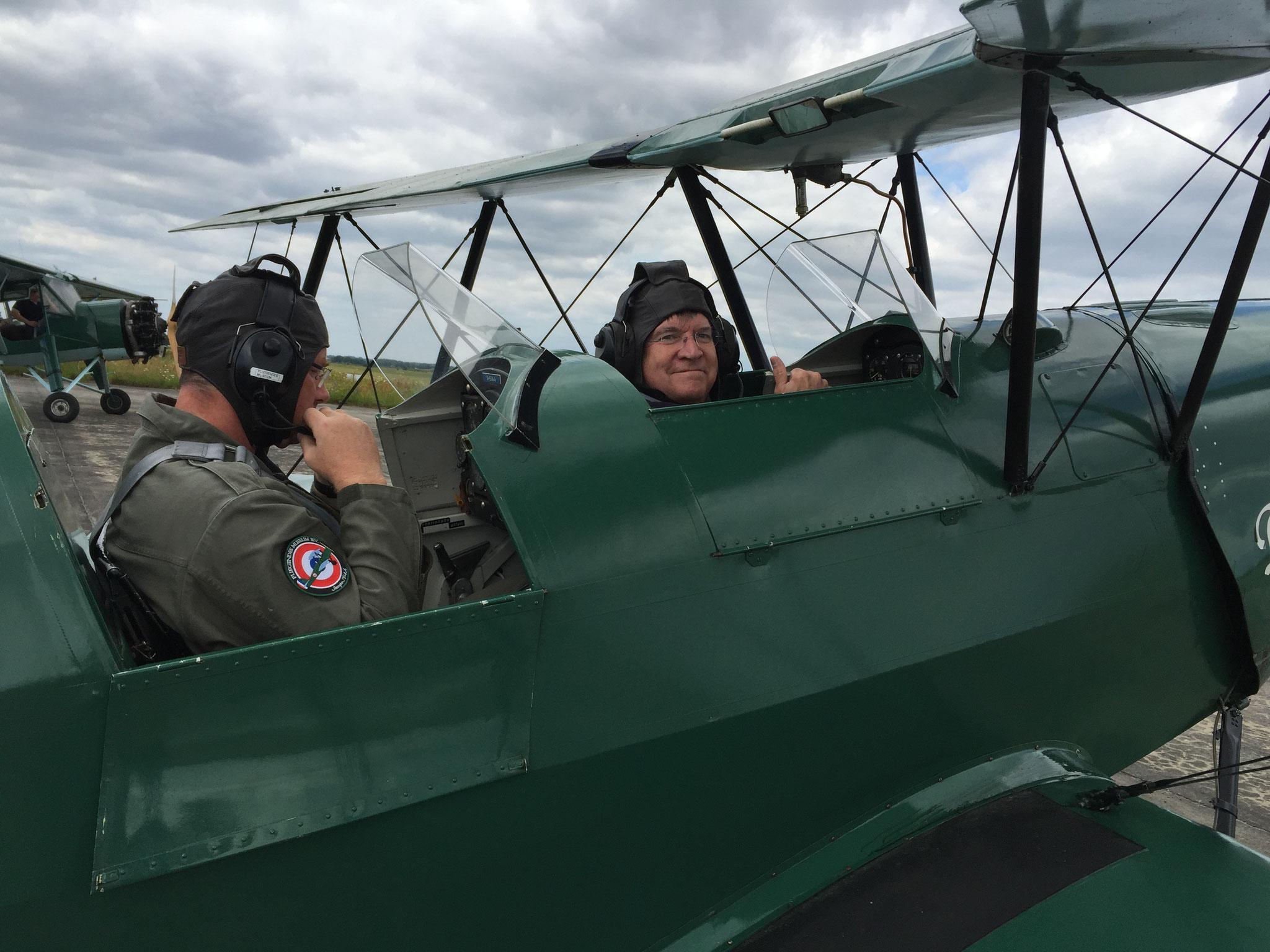 Un passager heureux, prêt à décoller