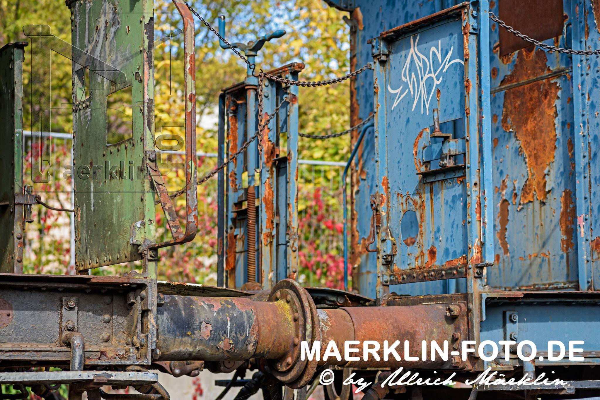 Reutlingen, alte Eisenbahnwagons