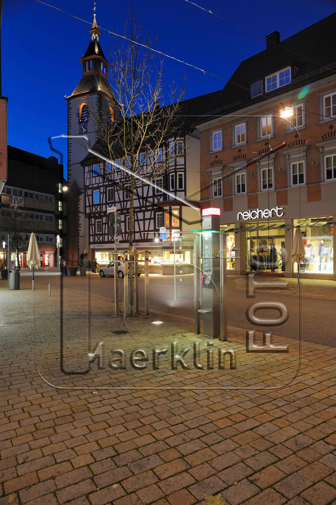 "Nagold, Marktstraße/Marktplatz, alter Kirchturm ""Zu unserer lieben Frau"""