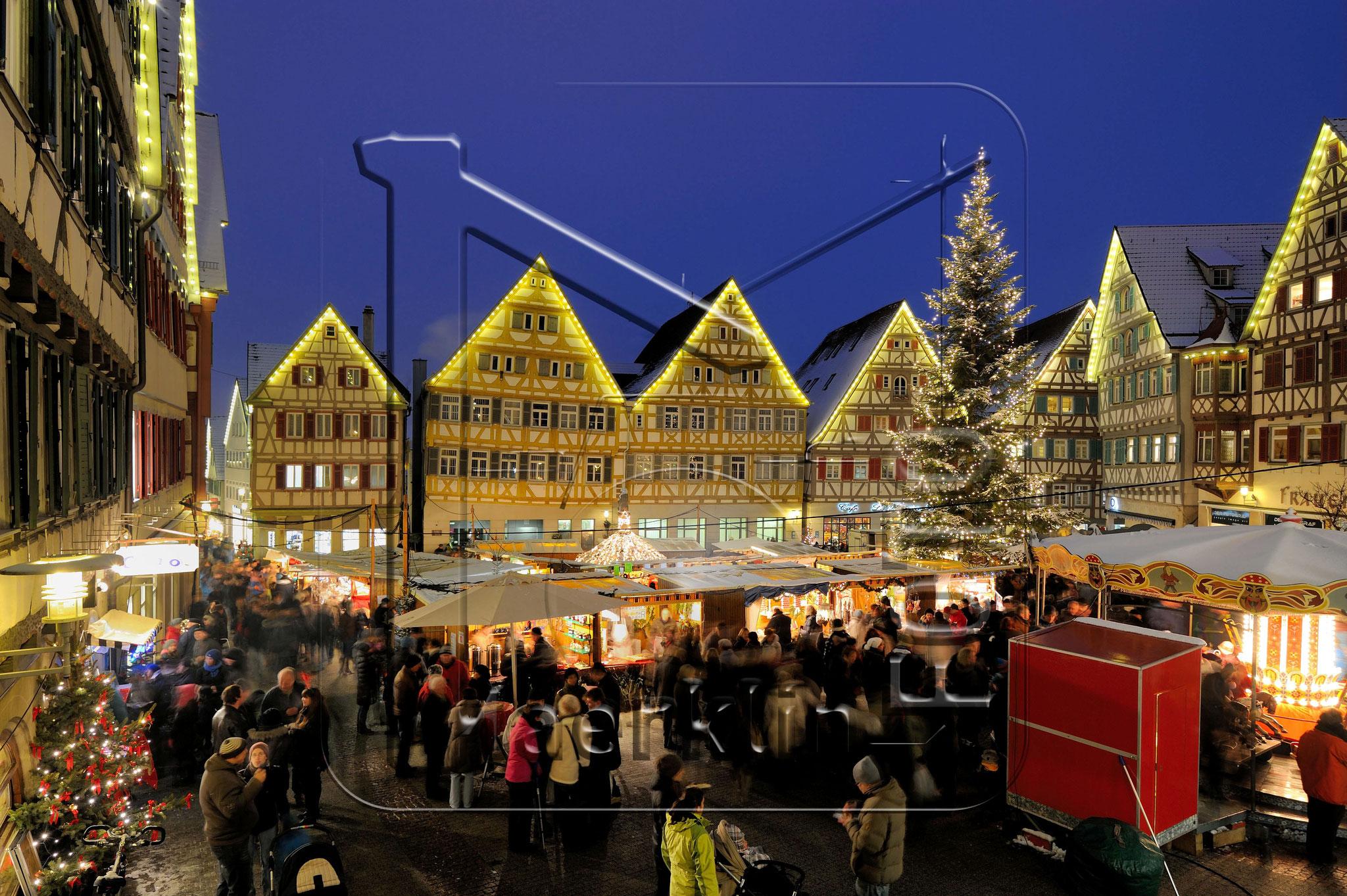 Heckengäu, Herrenberg, Marktplatz, Weihnachtsmarkt