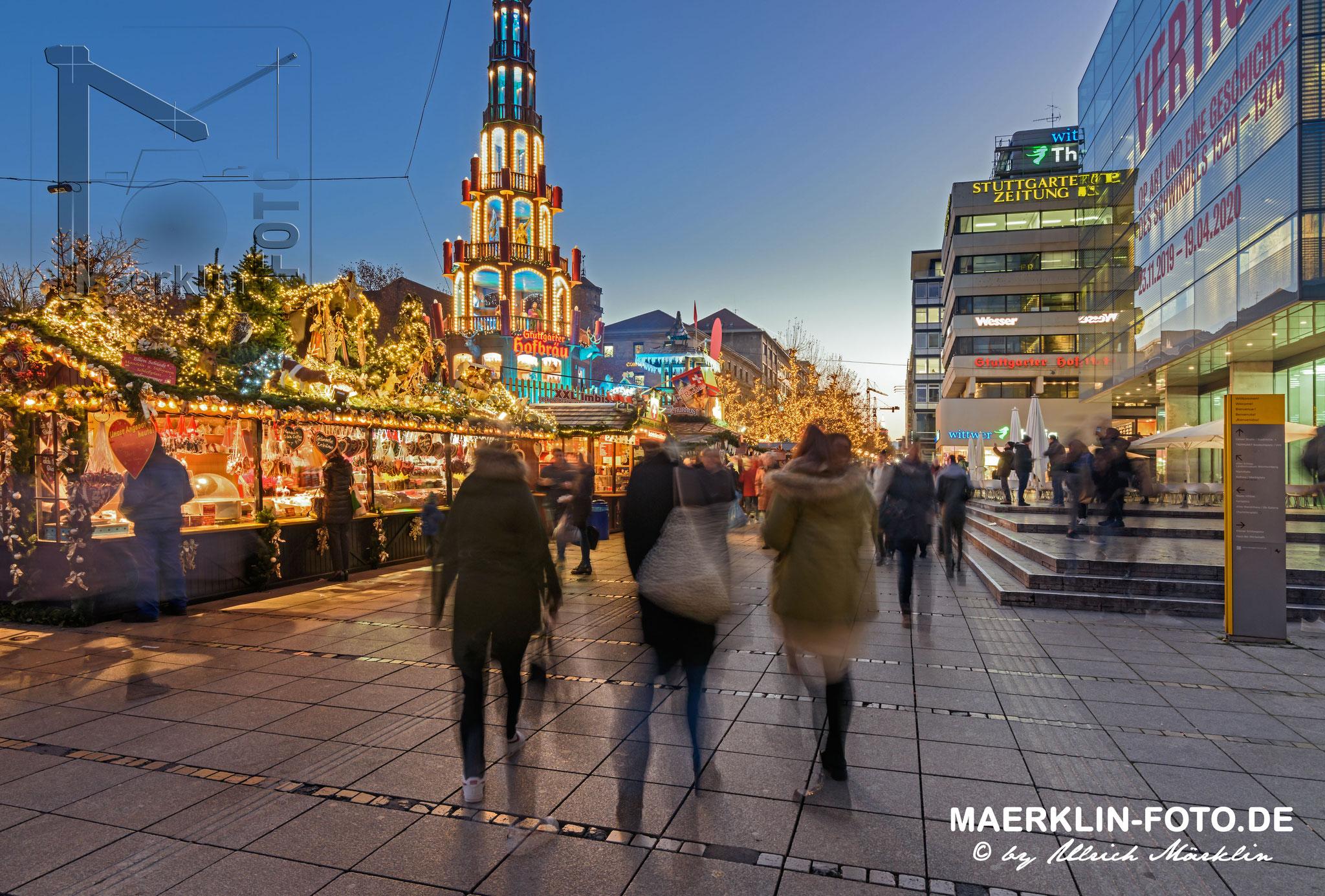 Weihnachtsmarkt in Stuttgart, Schlossplatz/Königstraße