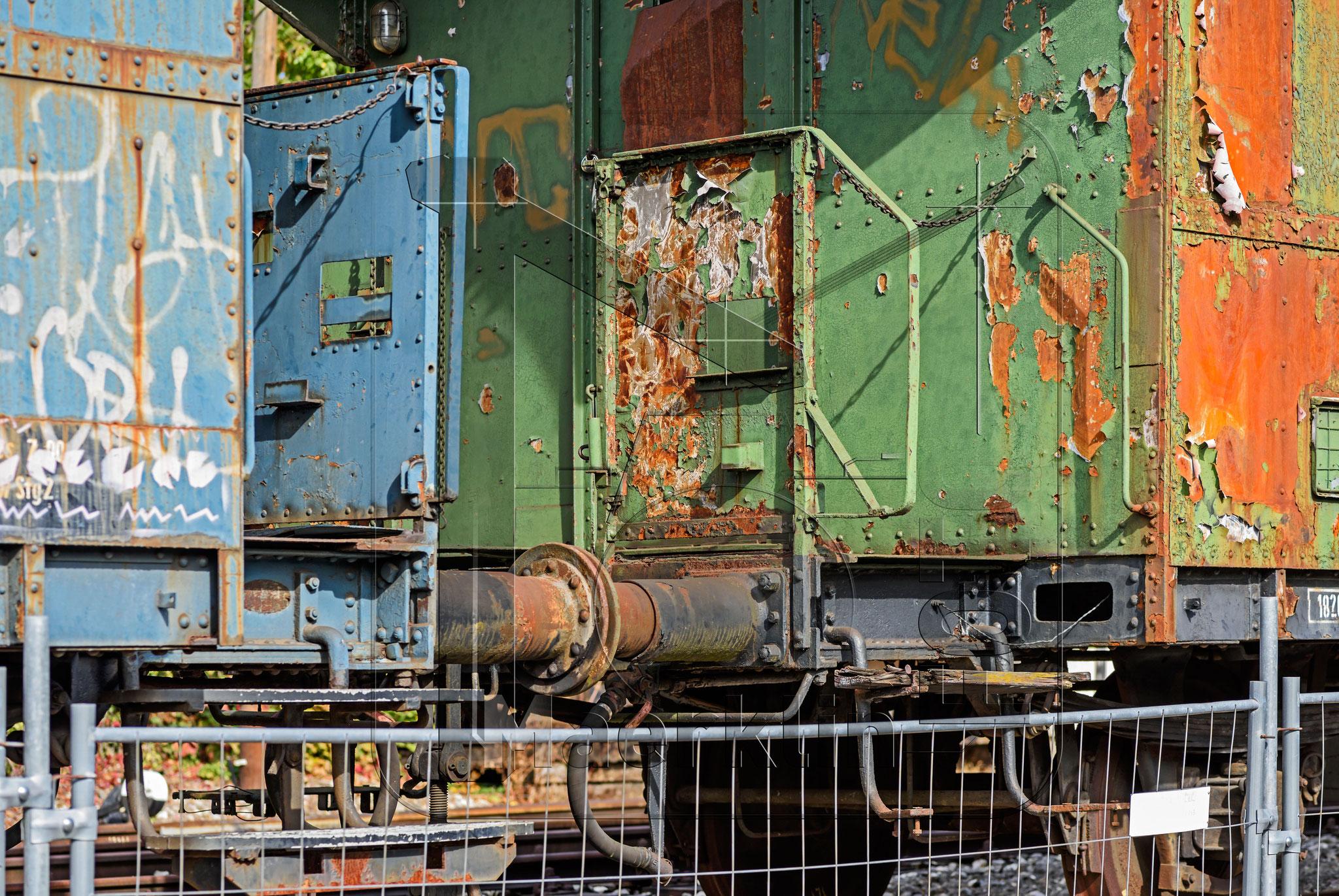 Reutlingen, alte Eisenbahnwagen