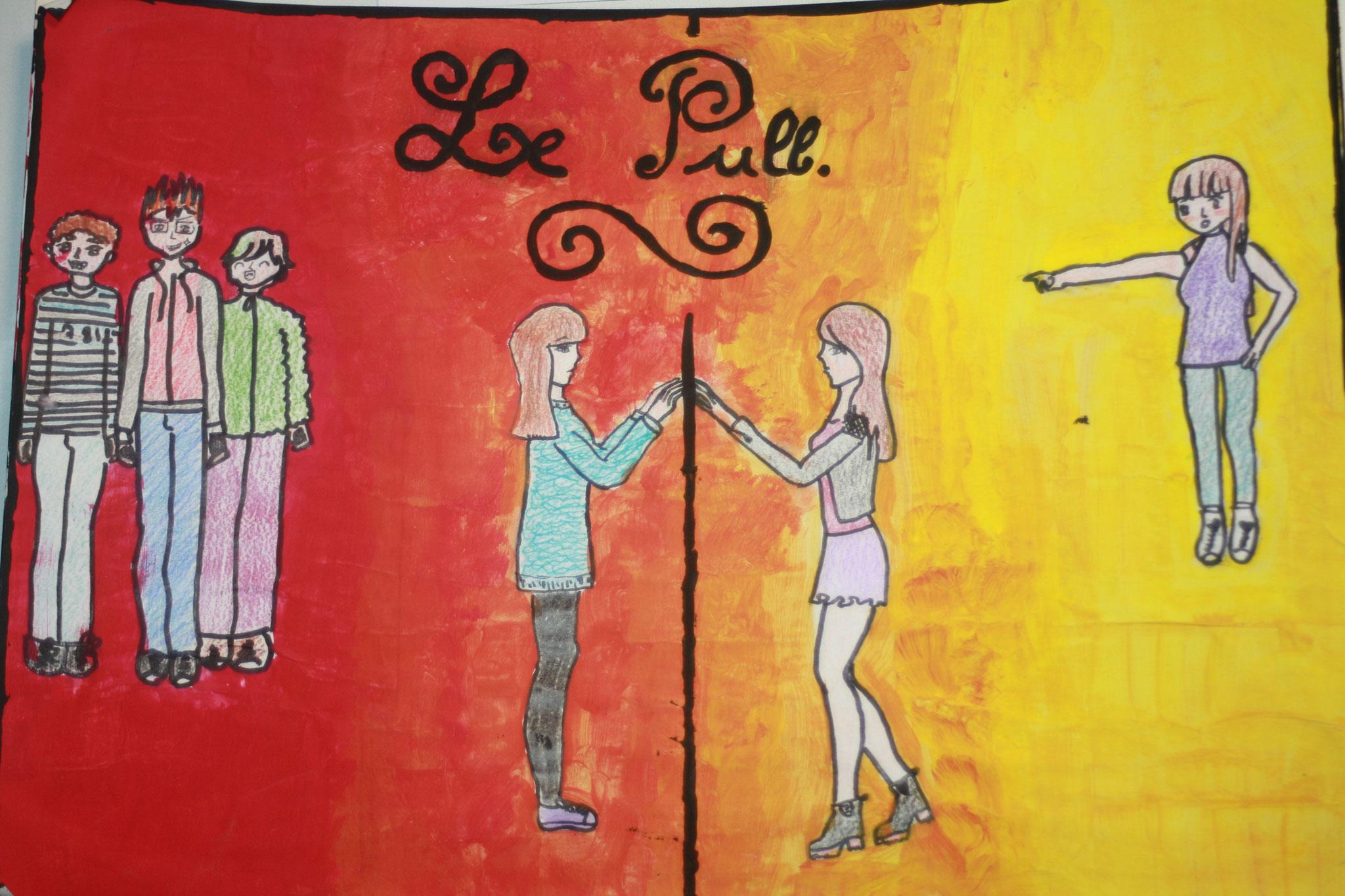 """GAGNANT n°3 - Dans """"Le pull"""", ... avant et après sa transformation. Manon et Laura"""