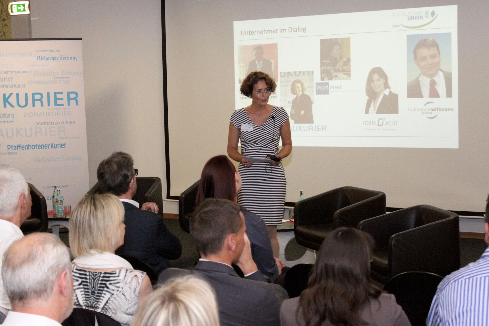 Dorothea Soffner stellt die Unternehmer vor
