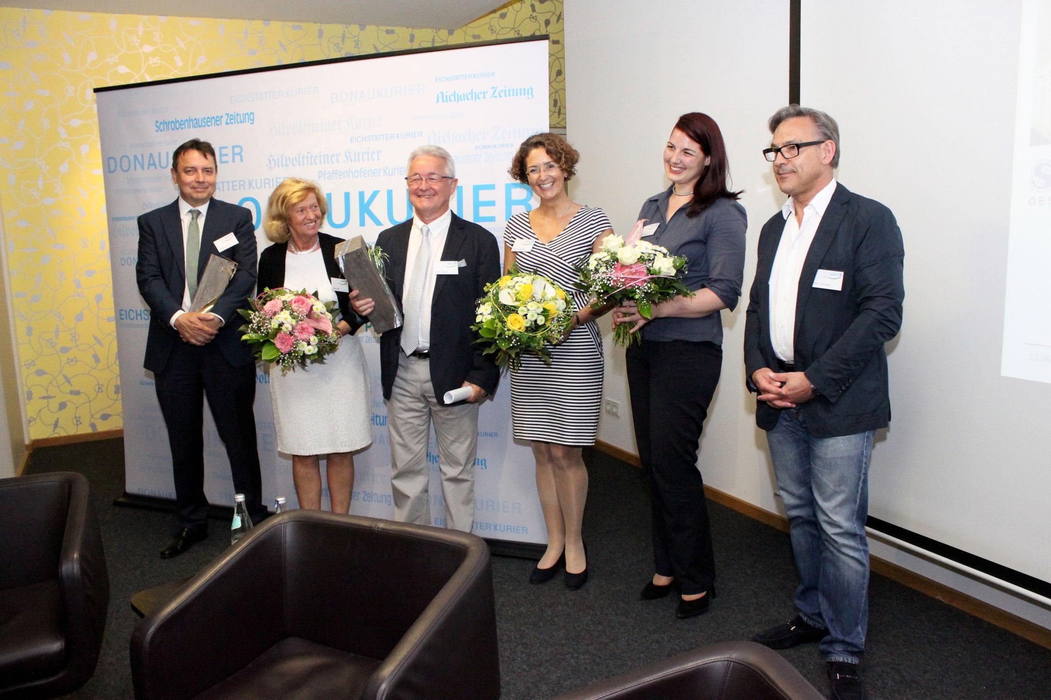 v.l. Walter Hofmann, Lydia Nißl, Heinz Spörer, Dorothea Soffner, Lena Snaider, Henry Schubert