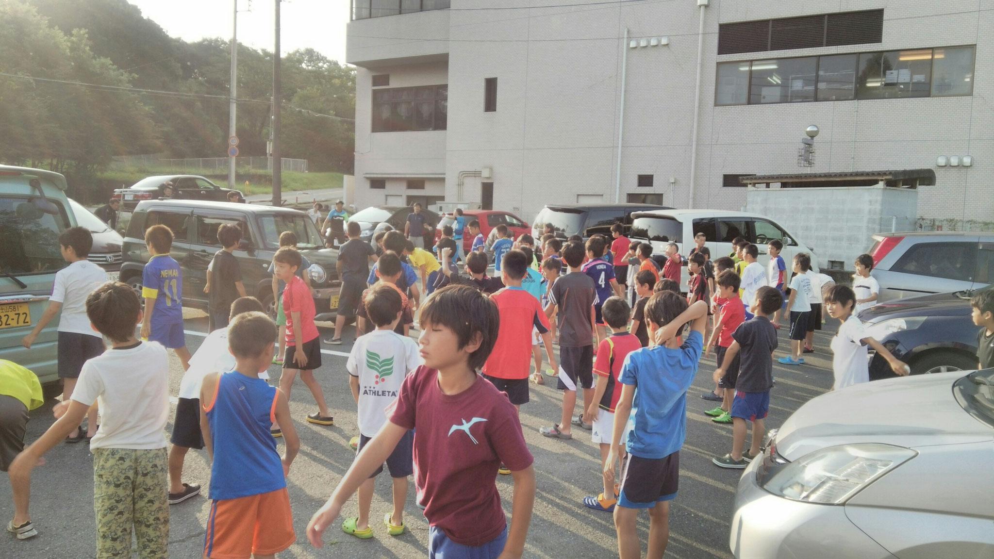 7/24 夏合宿 2日目 朝:ラジオ体操第一、第二