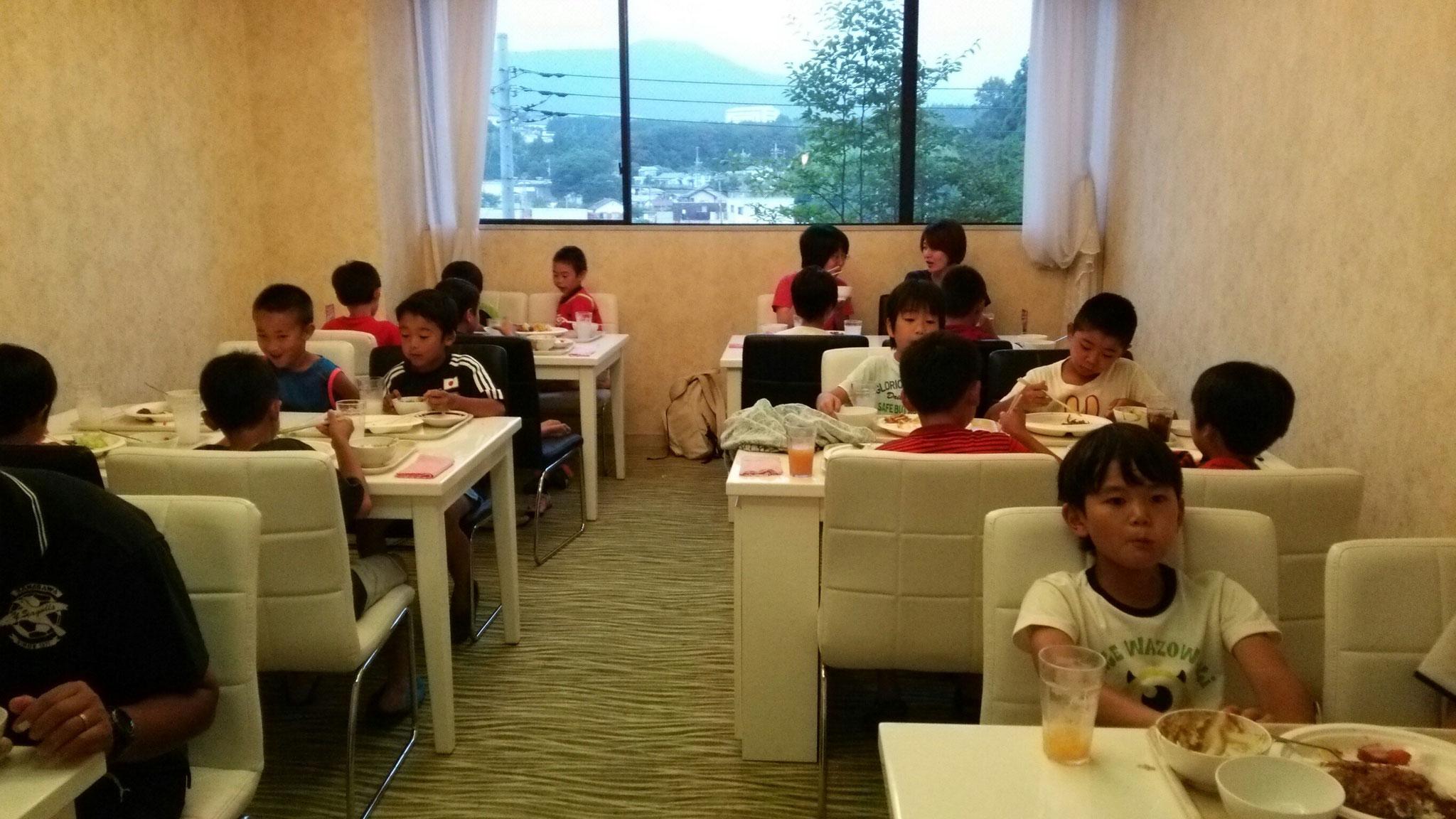 7/23 夏合宿 1日目 夕食