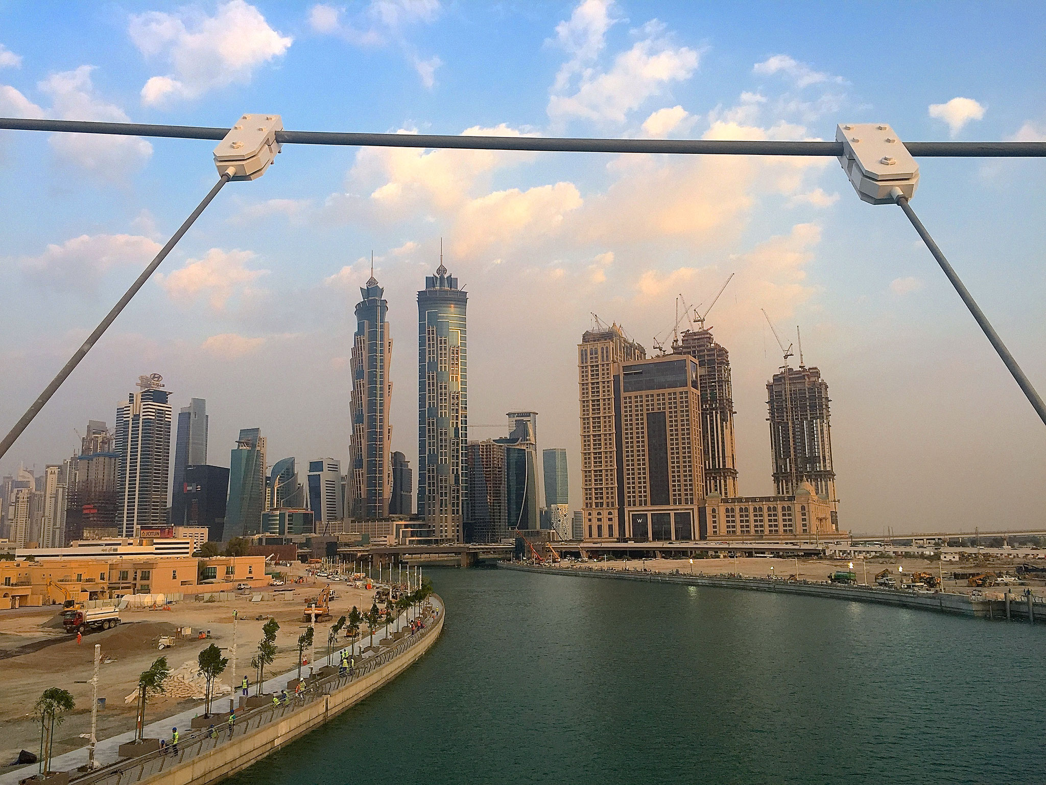 Opening Dubai Canal.