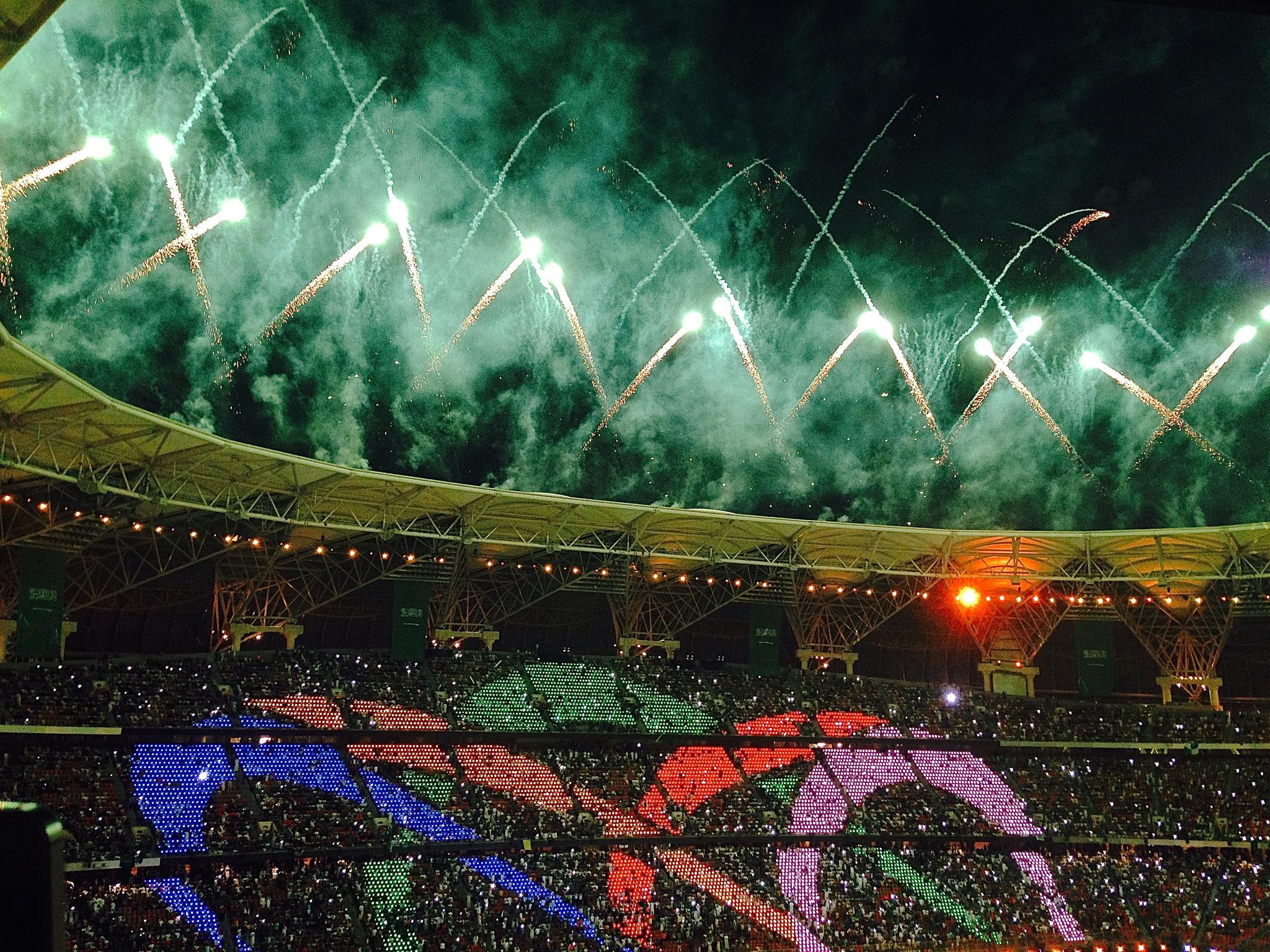 Opening King Abdullah stadion Jeddah, Saudi Arabie.