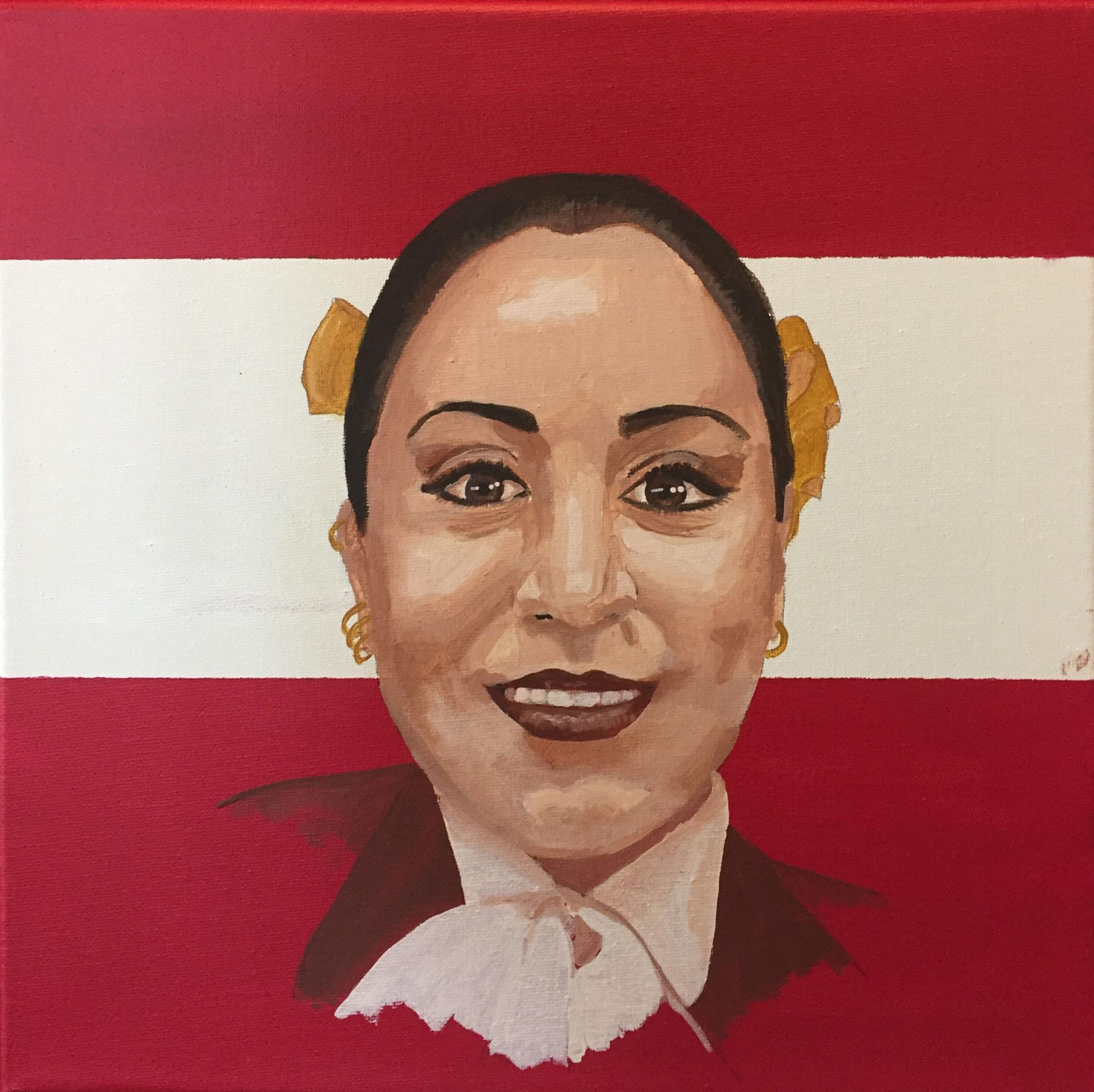 Patricia: Trompetista, inmigrante que busca dar a concer el folclor de su pais, para que lo quieran y respeten.