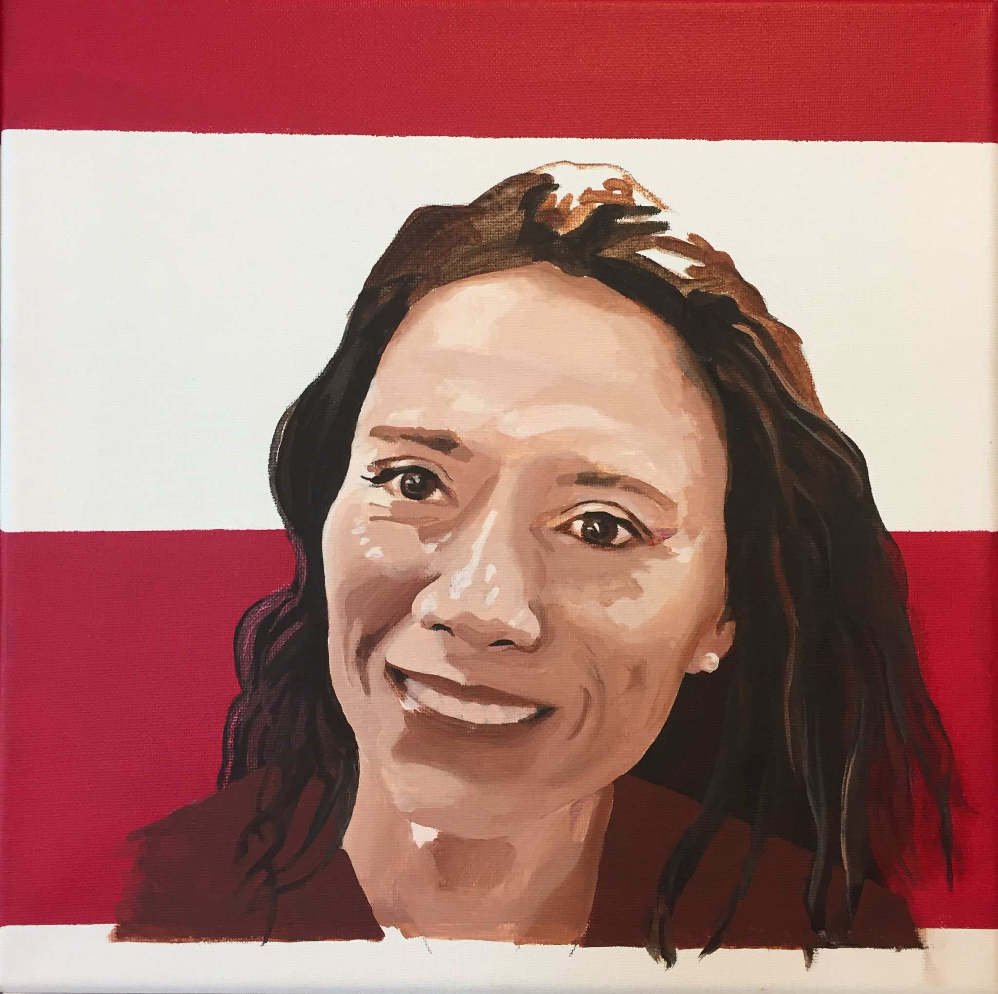 Catalina Gomez: Colombian sensitive to diversity and multiculturalism, respectful of the customs, beliefs and traditions of others. Seeker of a better place to live, through art. In her paintings she avoids the limits created by the color of the skin