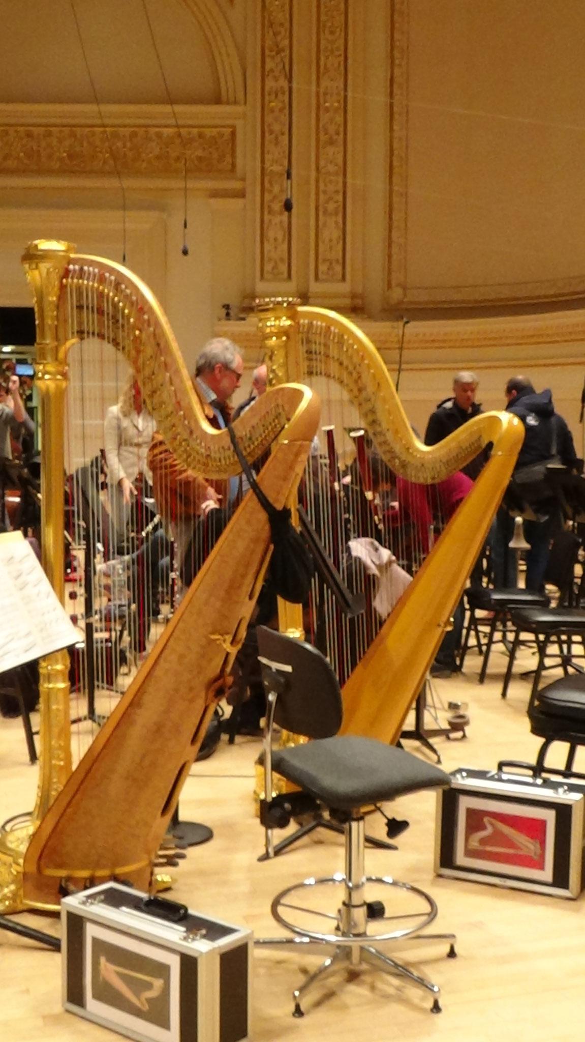 Auf der Bühne der Carnegie Hall, copyrightlorettawollenberg