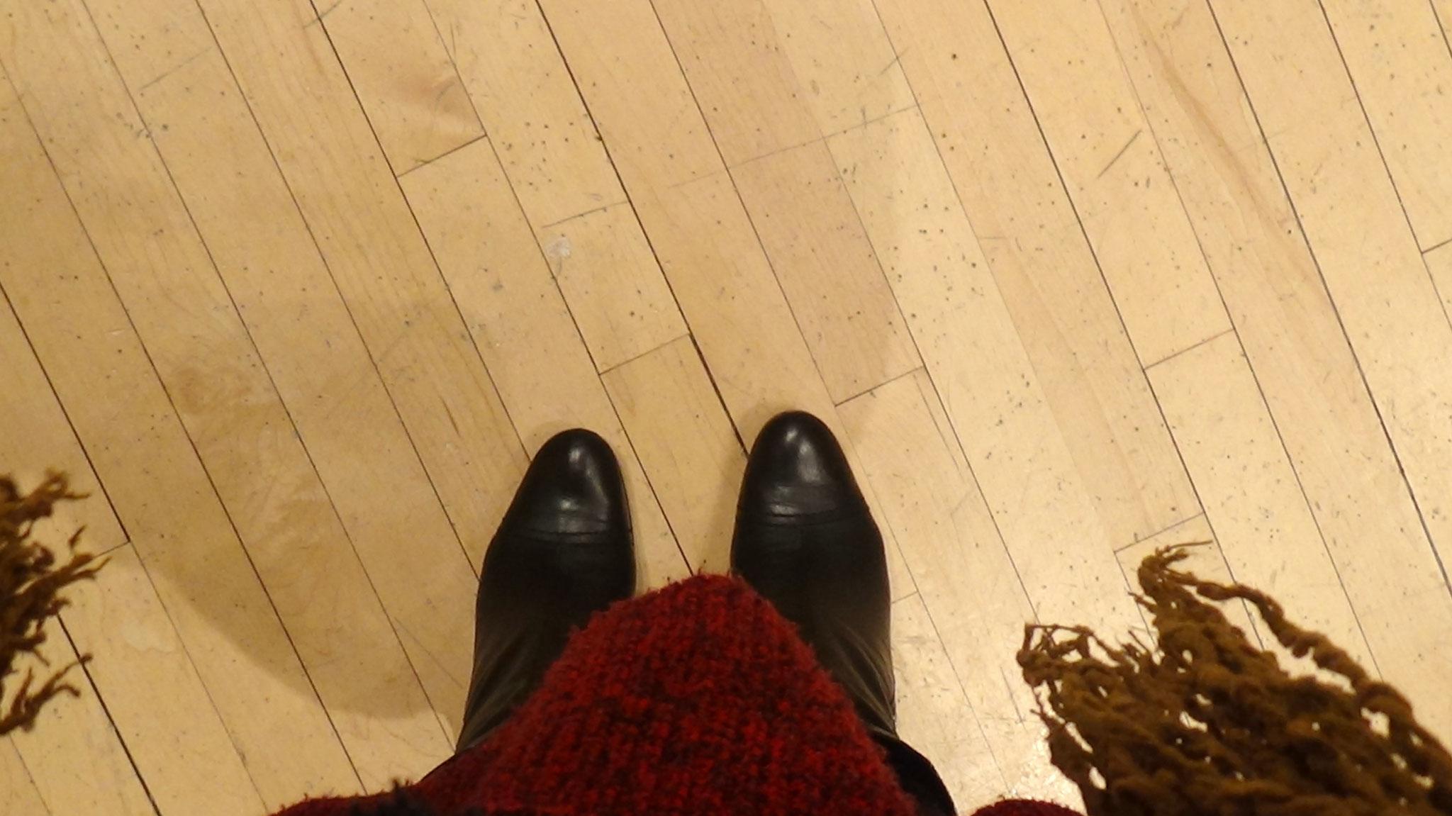 Meine Füße auf der Bühne der Carnegie Hall, copyrightlorettawollenberg