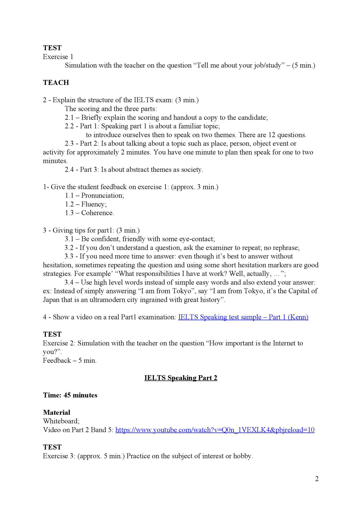Lesson plan 2/3
