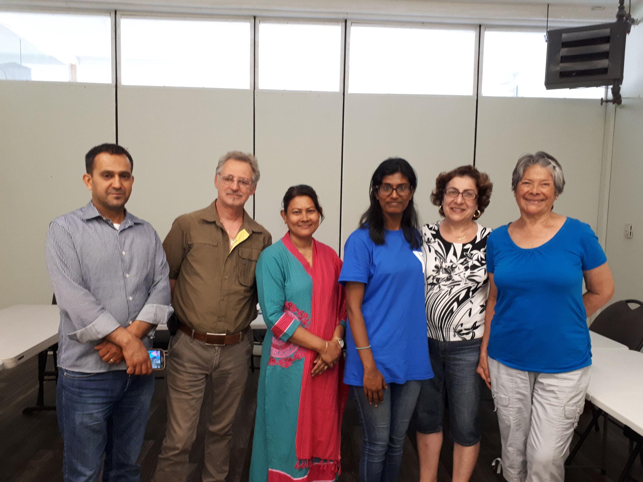 In a classroom at CACI - Centre d'appuis aux communautés immigrantes, Montreal, QC