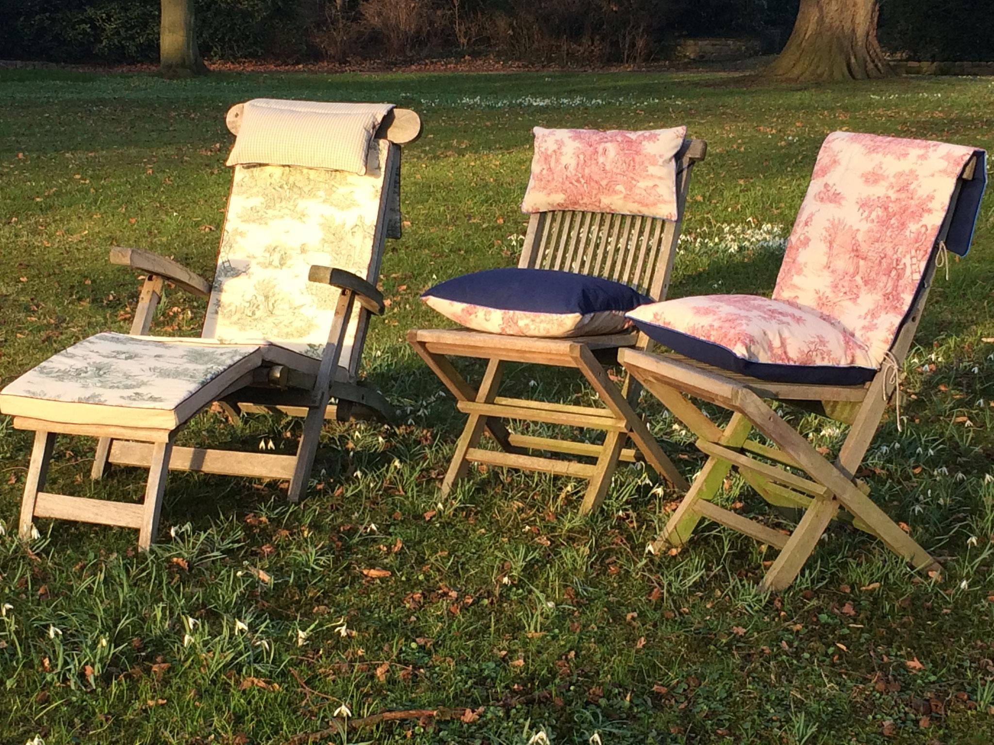 Deckchair im Sonnenuntergang