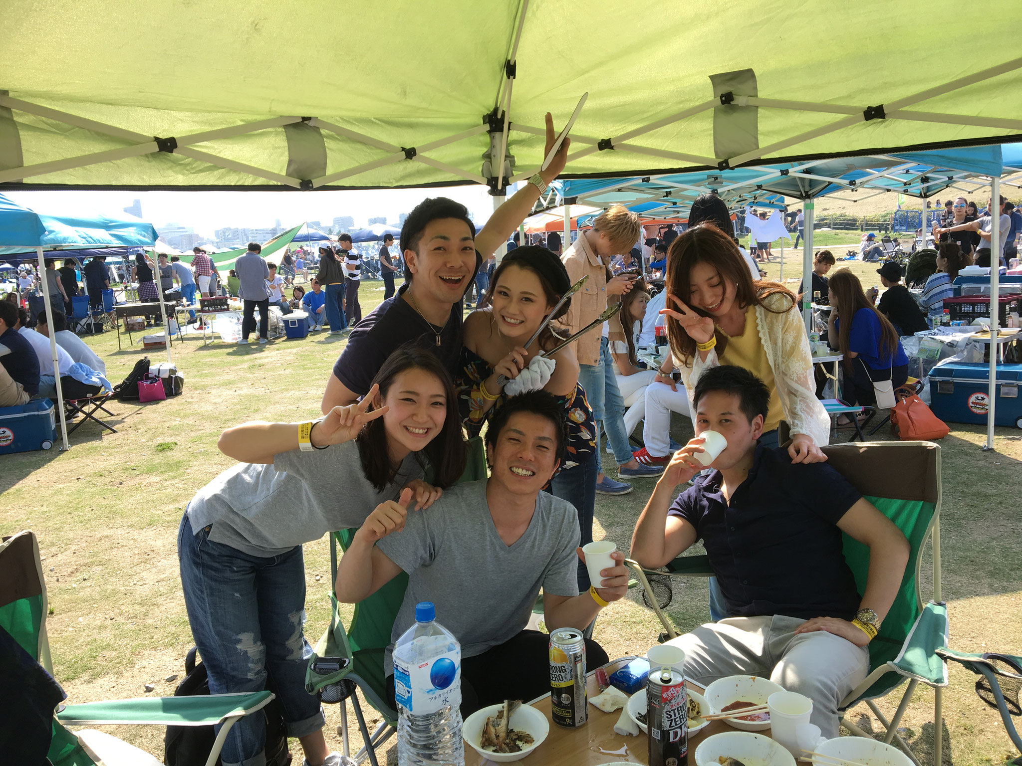 淀川河川敷BBQではテントのレンタルが必須です!